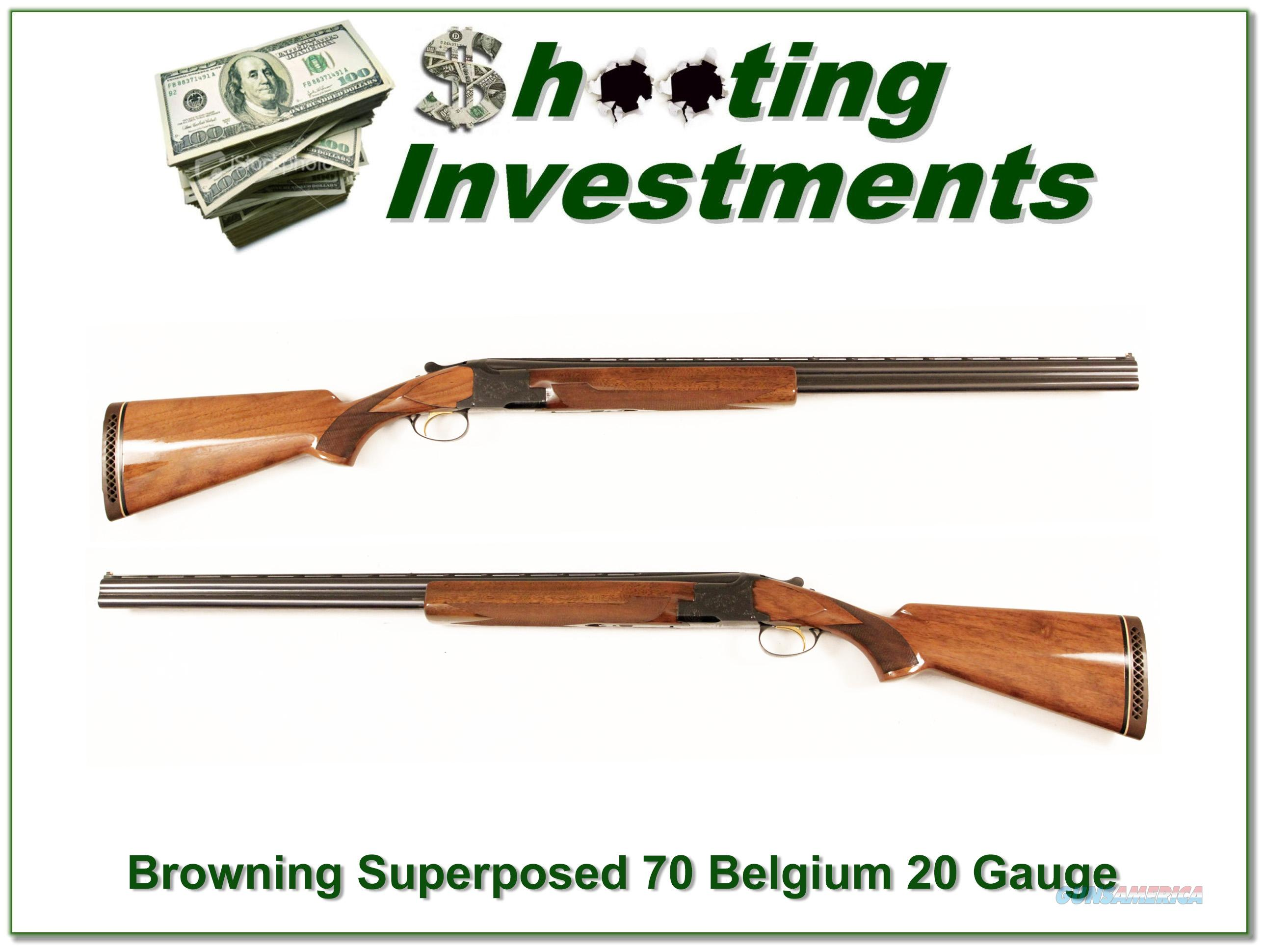 Browning Superposed 70 Belgium 20 Gauge 28in Skeet!  Guns > Shotguns > Browning Shotguns > Over Unders > Belgian Manufacture