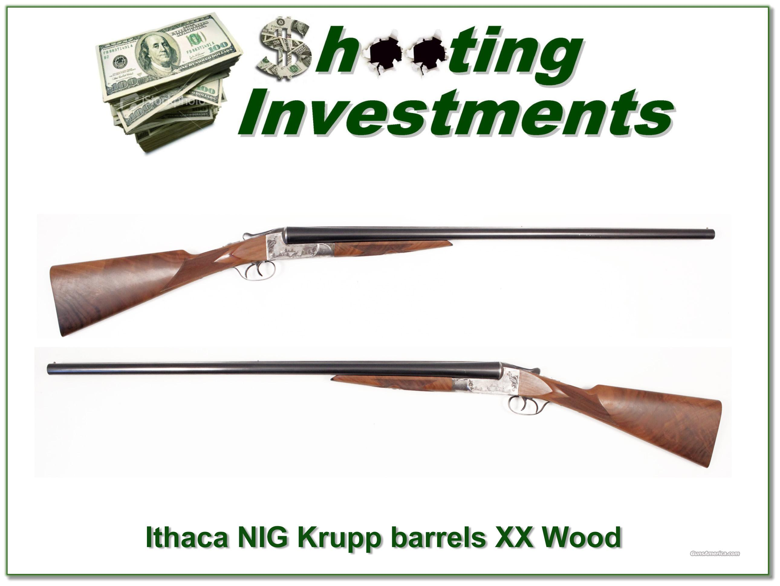 Ithaca NID 3E Exc Condition XX Wood Krupp barrels!  Guns > Shotguns > Ithaca Shotguns > SxS
