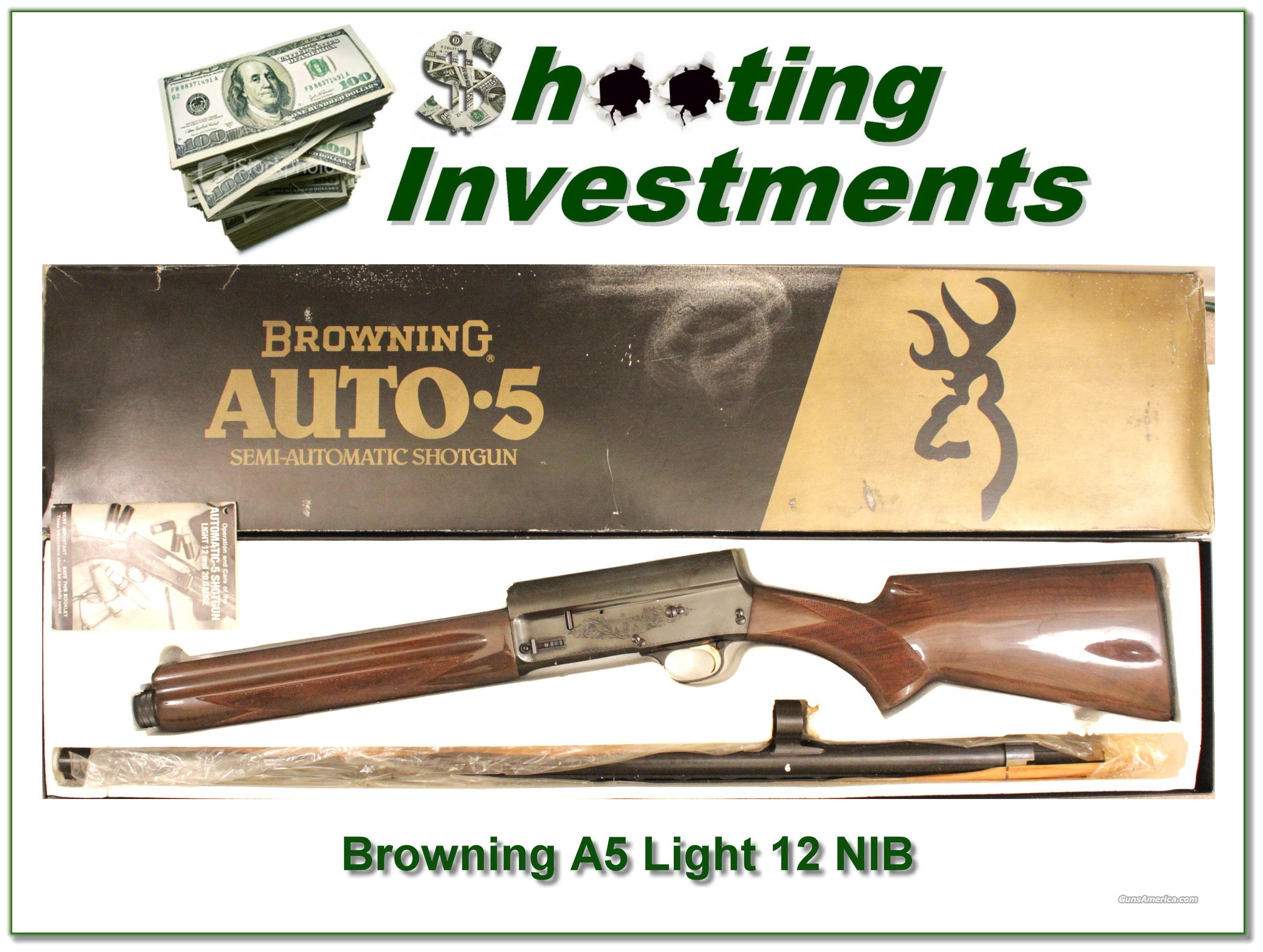 Browning A5 Light 12 NIB  Guns > Shotguns > Browning Shotguns > Autoloaders > Hunting