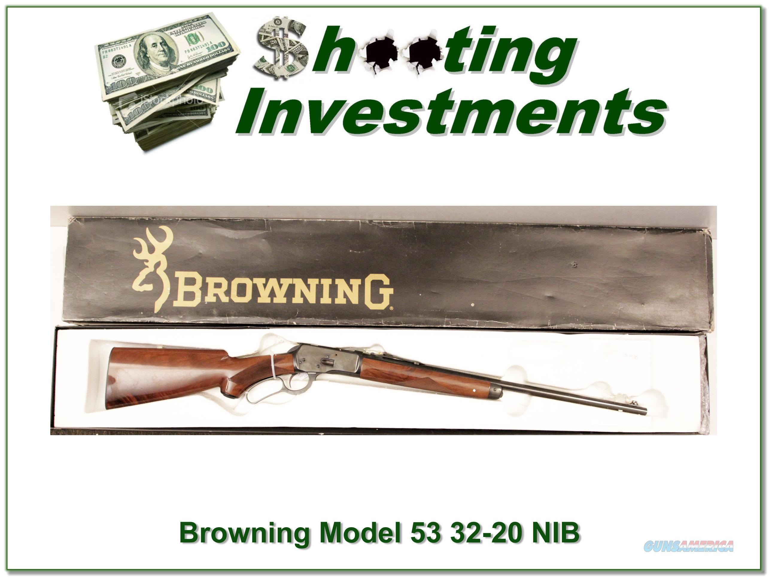 Browning Model 53 32-20 NIB!  Guns > Rifles > Browning Rifles > Lever Action