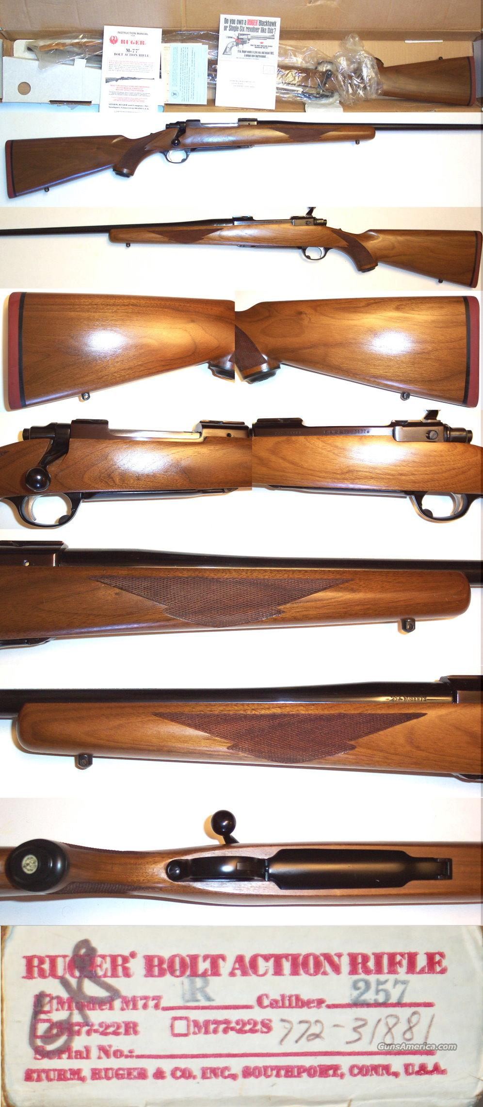 Ruger 77 257 Roberts ANIB  Guns > Rifles > Ruger Rifles > Model 77