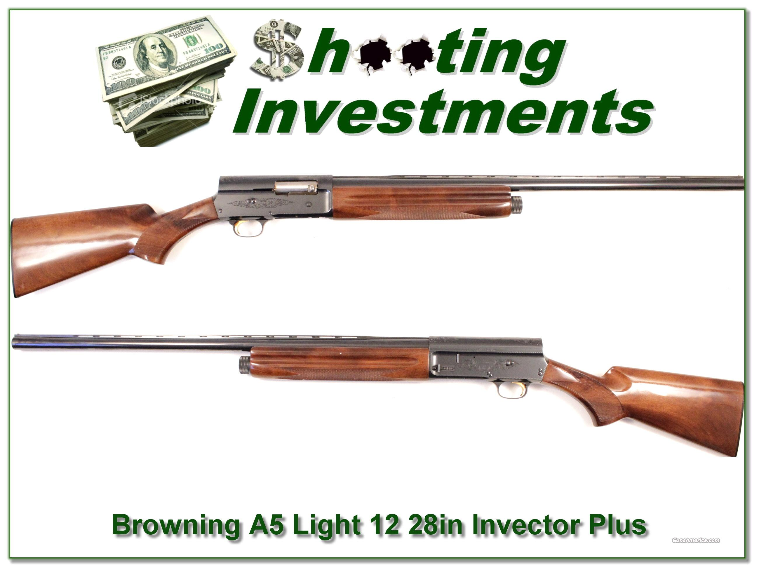 Browning A5 Light 12 28in Invector Exc Con!  Guns > Shotguns > Browning Shotguns > Autoloaders > Hunting