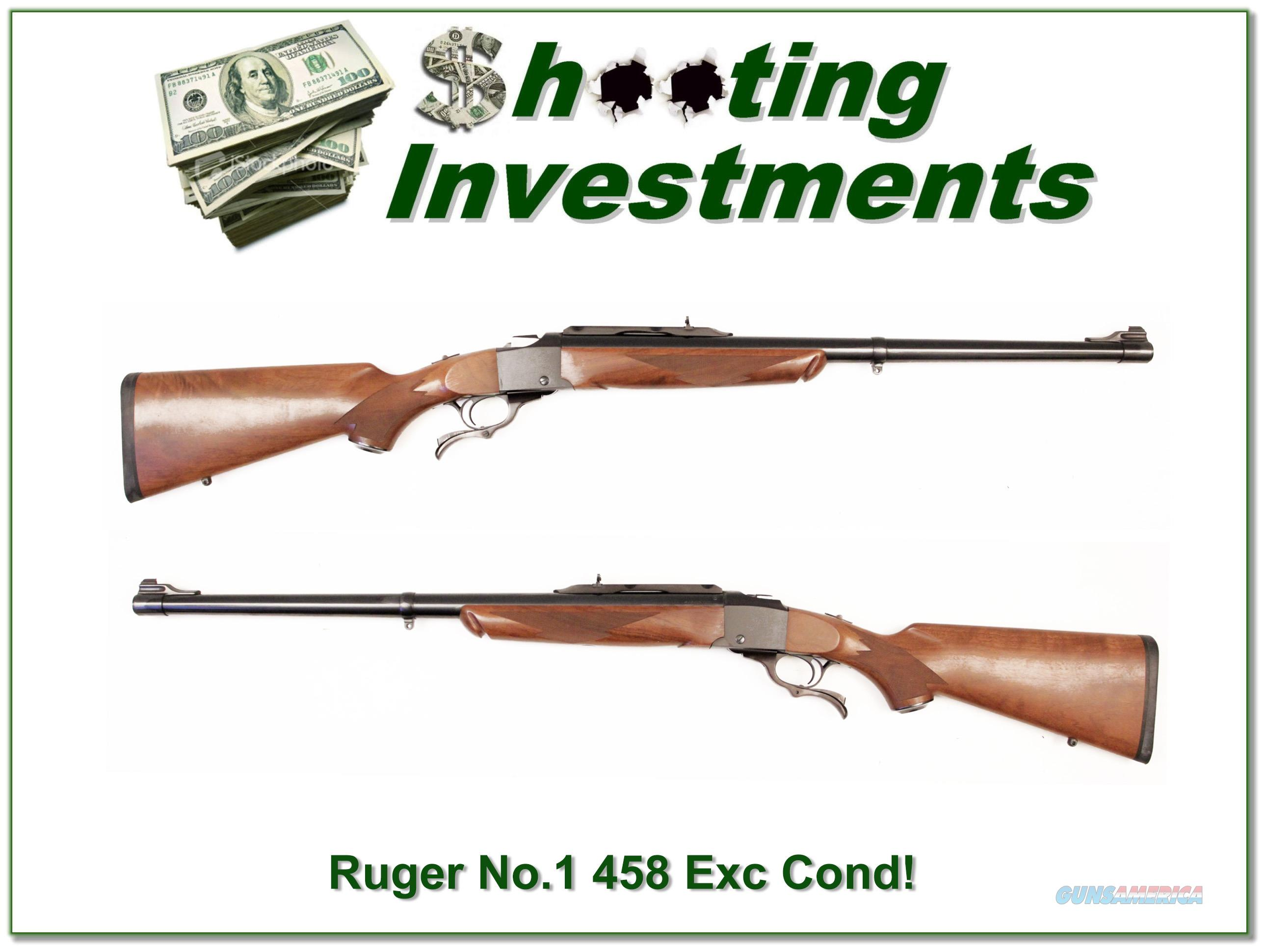 Ruger No. 1 Tropical in 458 Win Mag as new!  Guns > Rifles > Ruger Rifles > #1 Type
