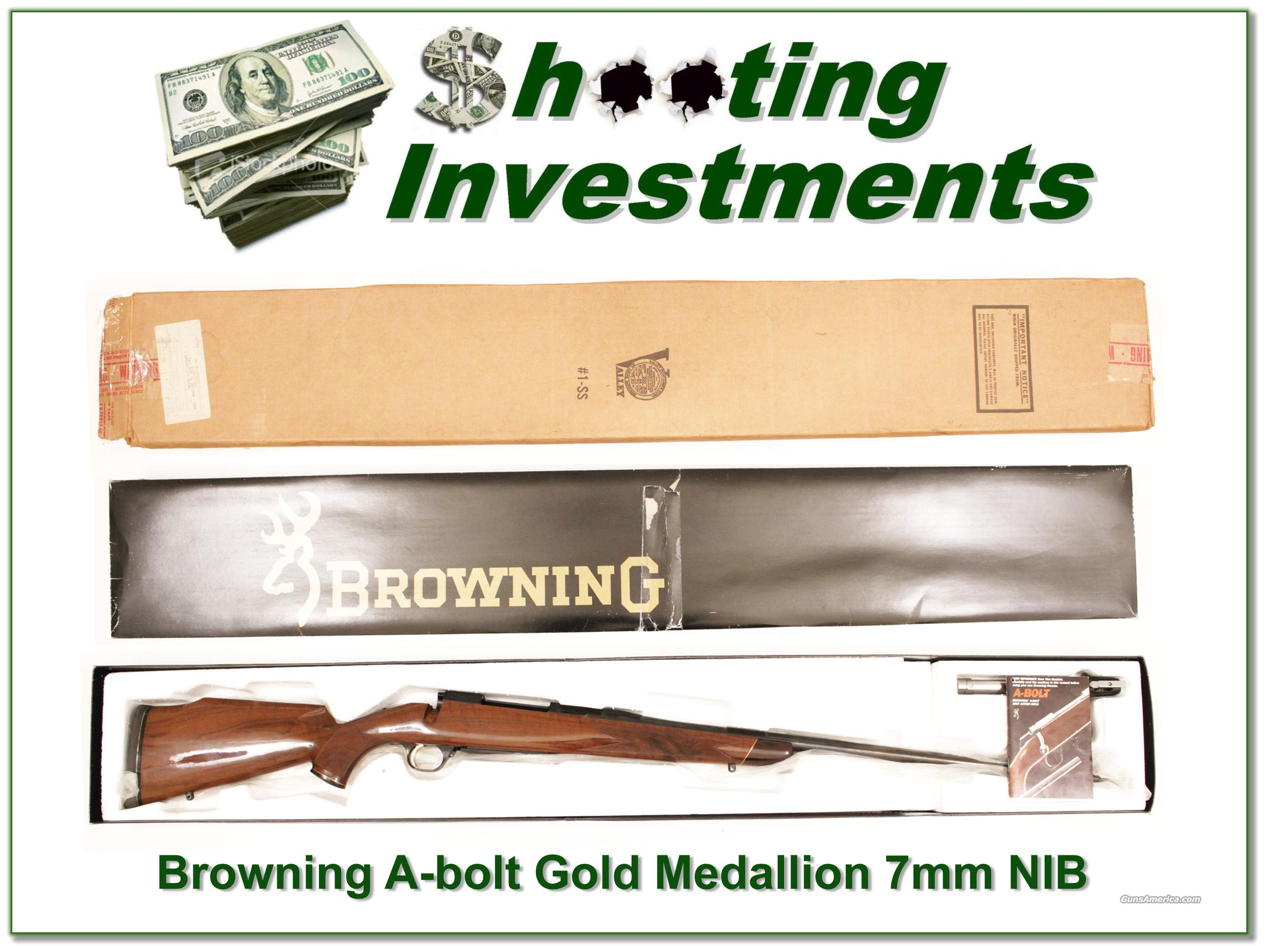 Browning A-bolt 1989 Gold Medallion 7mm NIB  Guns > Rifles > Browning Rifles > Bolt Action > Hunting > Blue