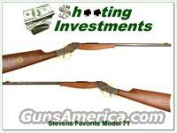 Stevens Savage Model 71 Favorite 22 as new  Guns > Rifles > Stevens Rifles