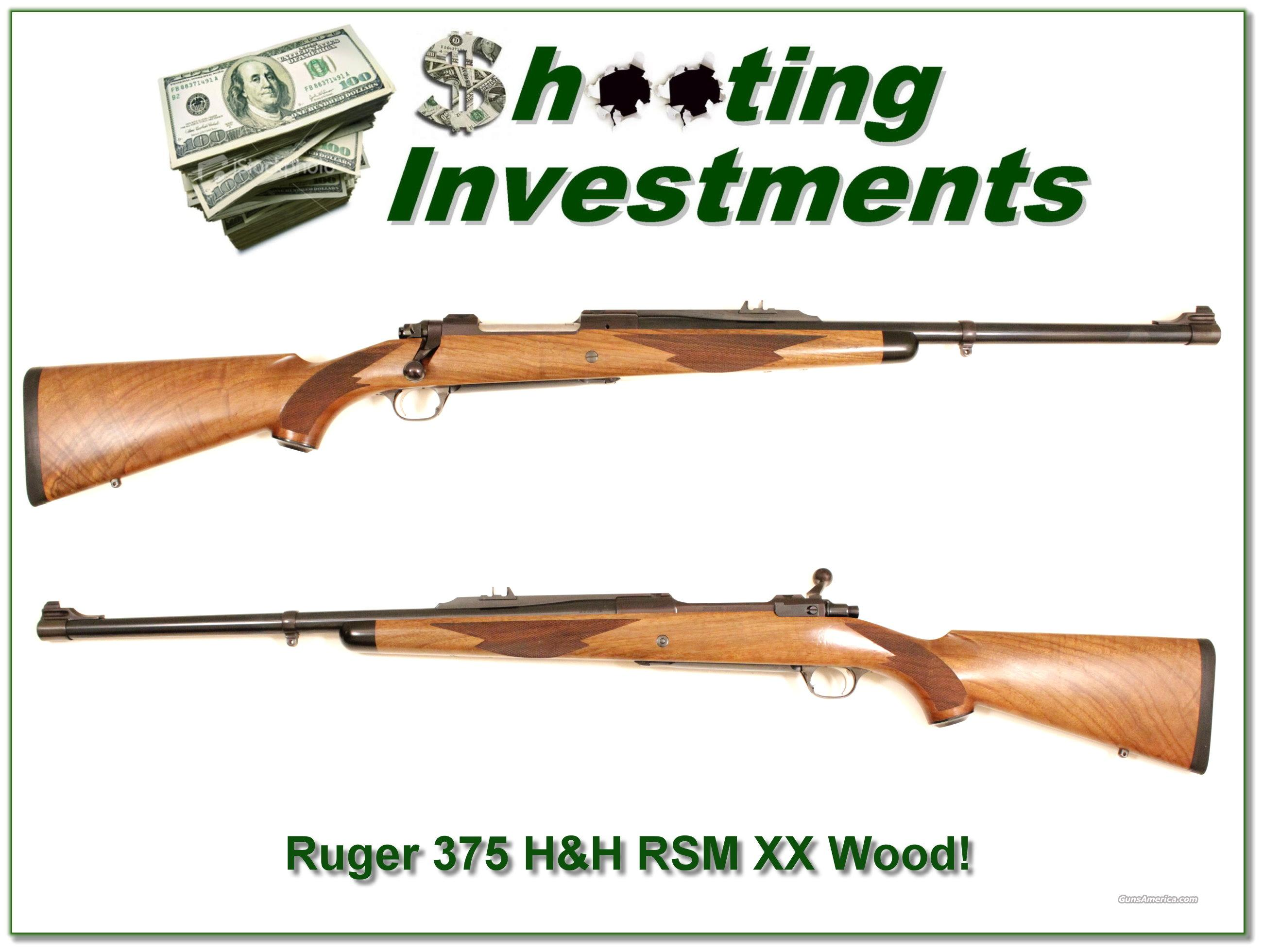 Ruger 77 RSM in 375 H&H XX Wood!  Guns > Rifles > Ruger Rifles > 10-22