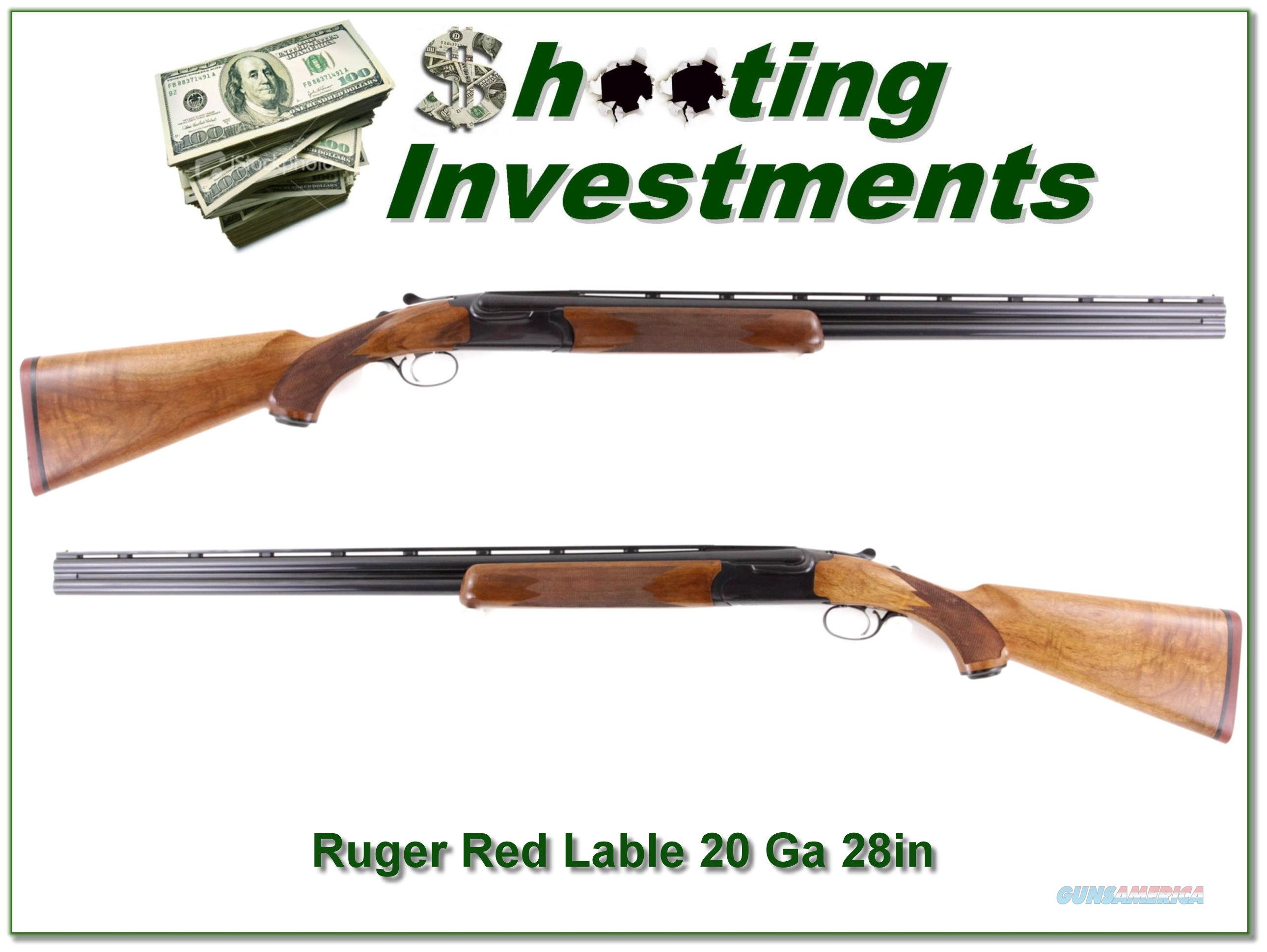 Ruger Red Label 20 Ga 28in nice wood!  Guns > Shotguns > Ruger Shotguns > Hunting