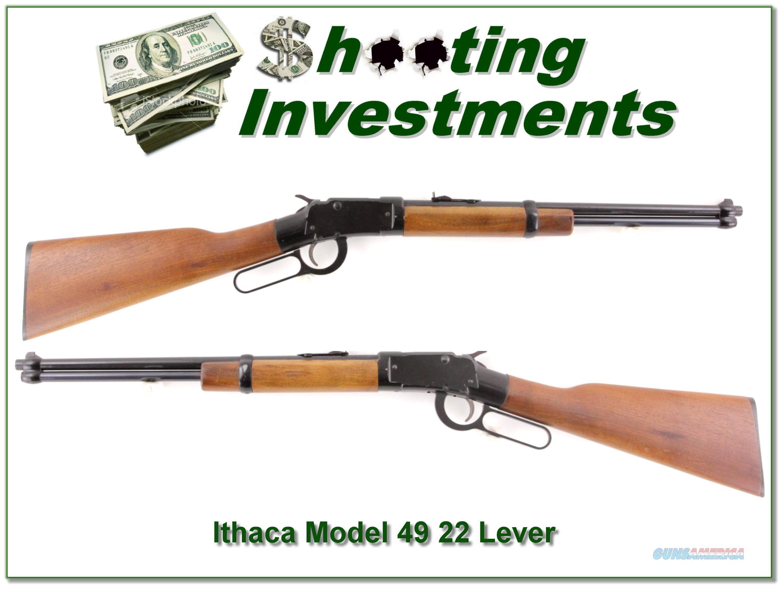 Ithaca Model 49 Lever Action single shot 22LR  Guns > Rifles > Ithaca Rifles