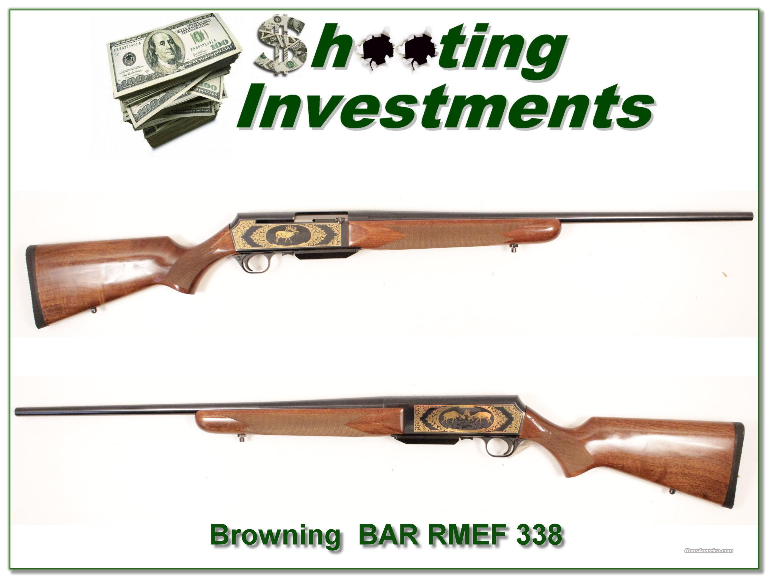 Browning BAR 338 Win Mag Rocky Mountain Elk Foundation!  Guns > Rifles > Browning Rifles > Semi Auto > Hunting