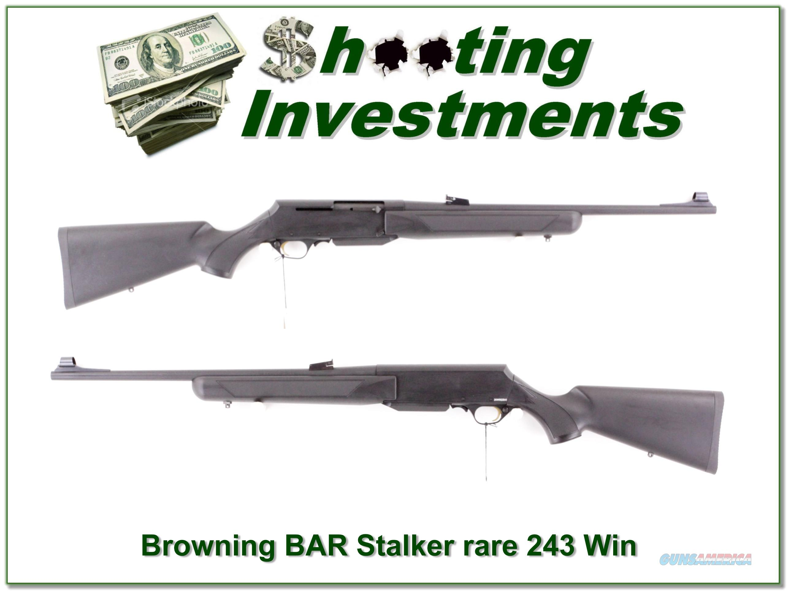 Browning BAR Mark II Stalker Lightweight 243 as new  Guns > Rifles > Browning Rifles > Semi Auto > Hunting
