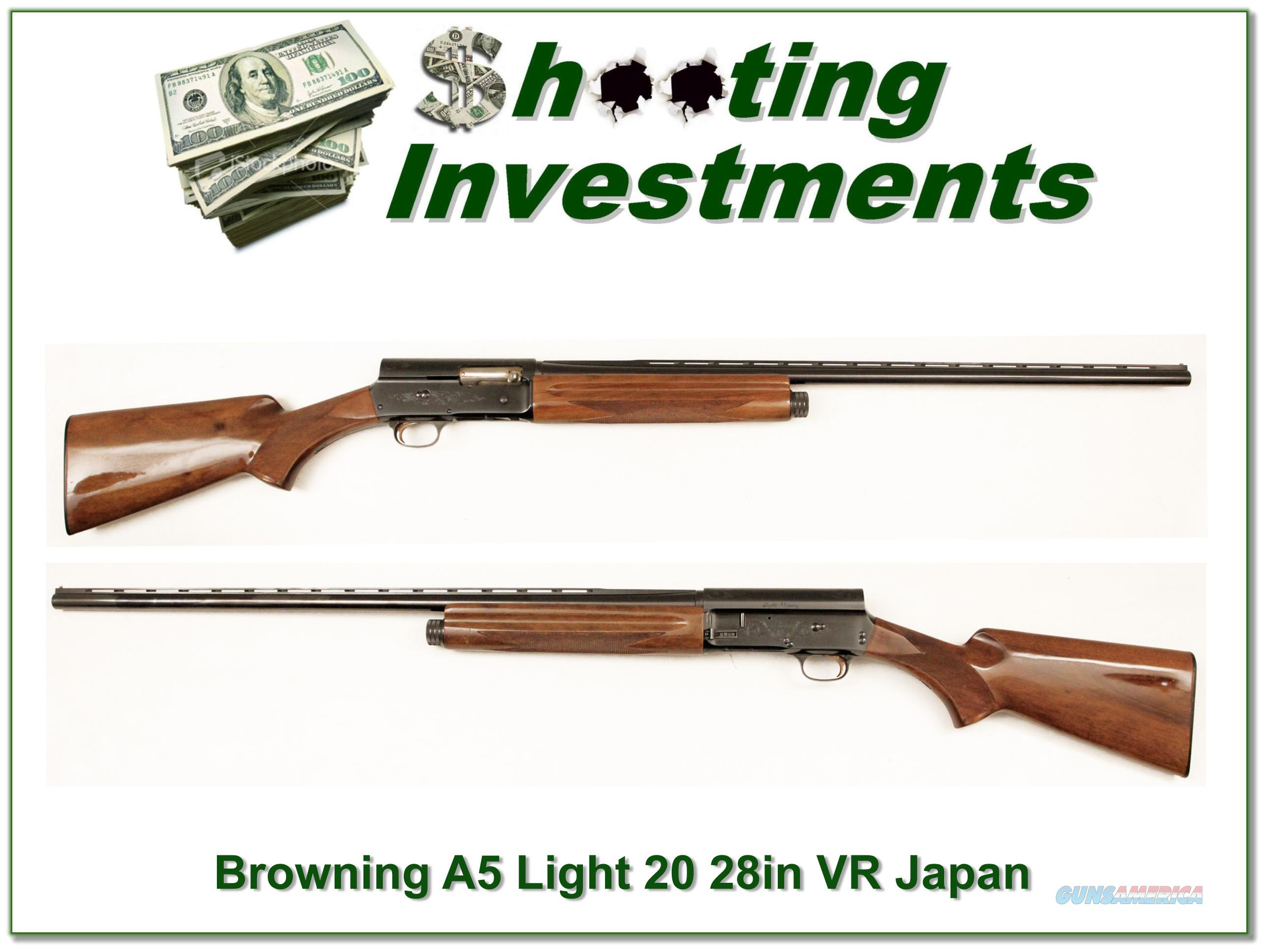 Browning A5 Light 20 28in VR Modified  Guns > Shotguns > Browning Shotguns > Autoloaders > Hunting
