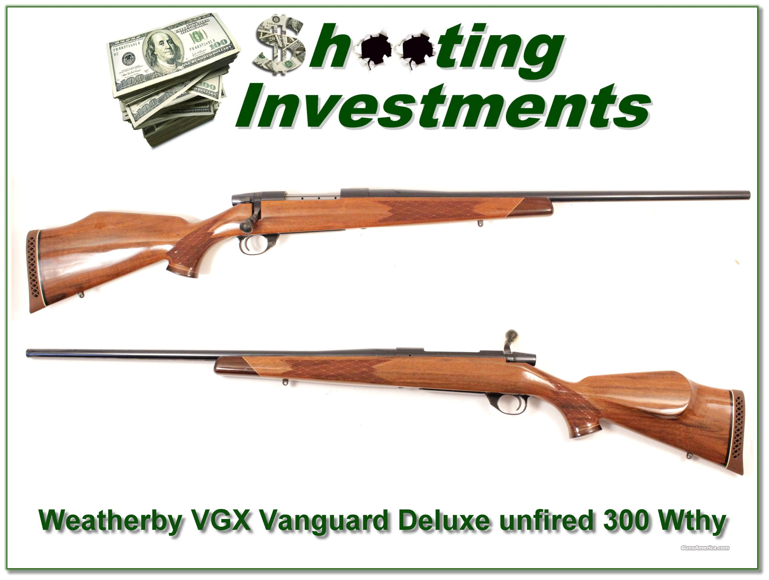 Weatherby Vanguard VGX 300 as new unfired!  Guns > Rifles > Weatherby Rifles > Sporting
