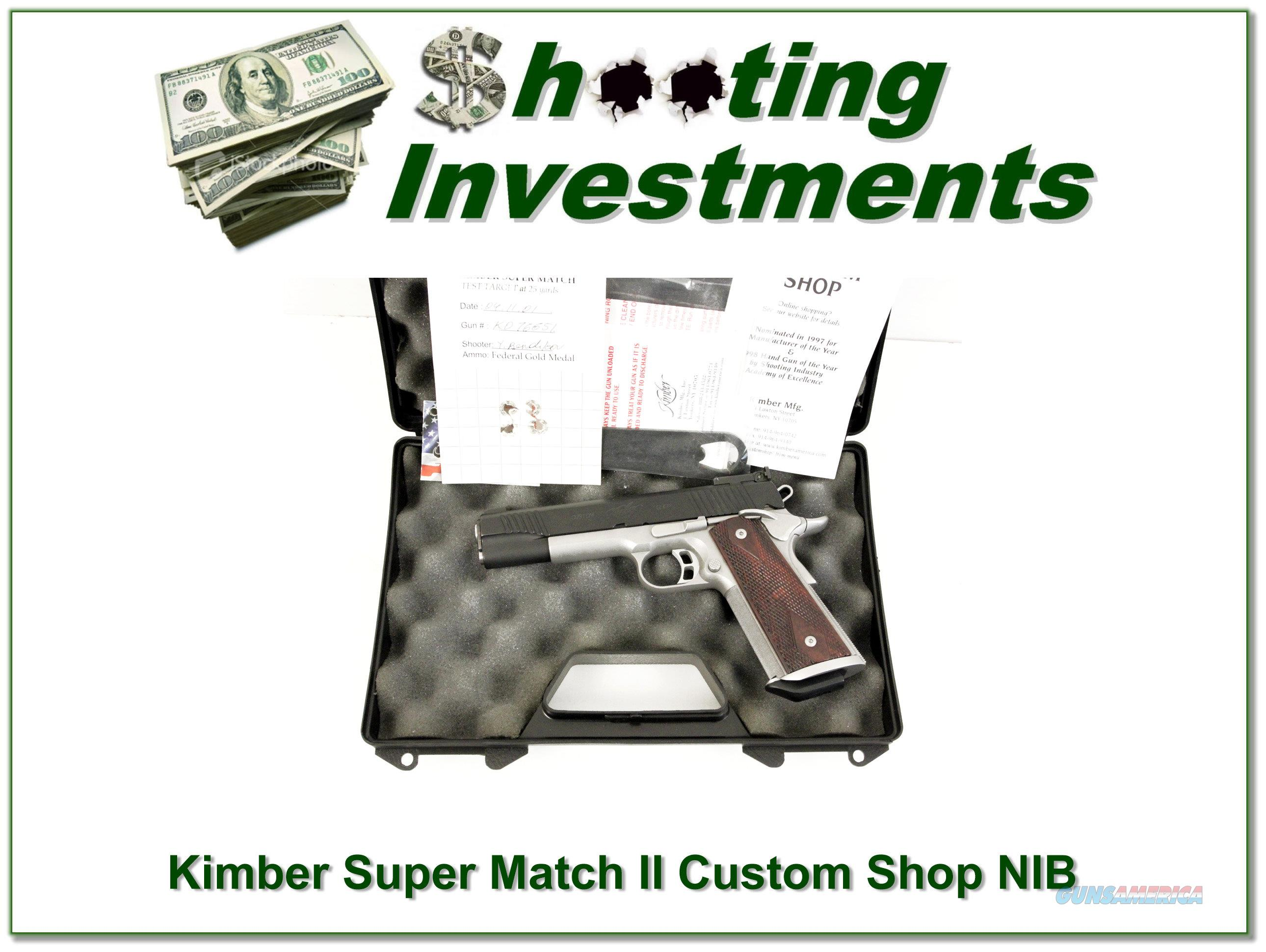 Kimber Super Match Custom Shop 45 ACP as new in case  Guns > Pistols > Kimber of Oregon Pistols