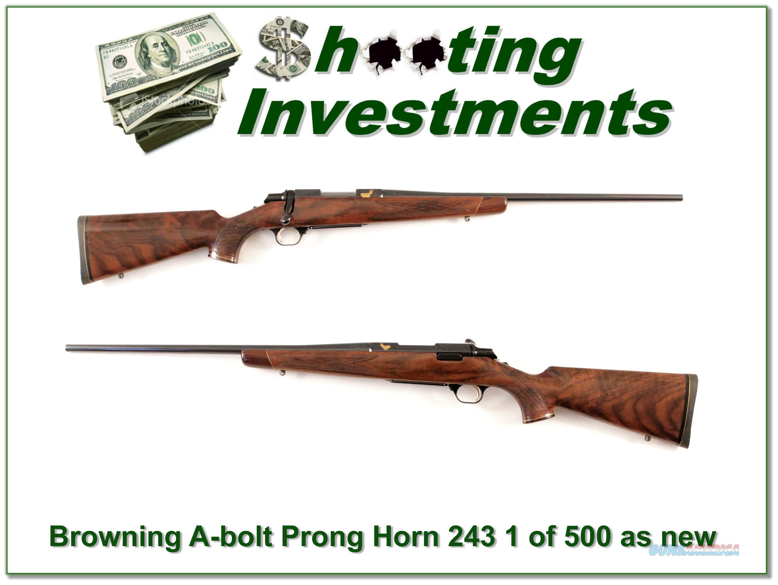 Browning Pronghorn 1 of 500 High Grade 243 looks new  Guns > Rifles > Browning Rifles > Bolt Action > Hunting > Blue