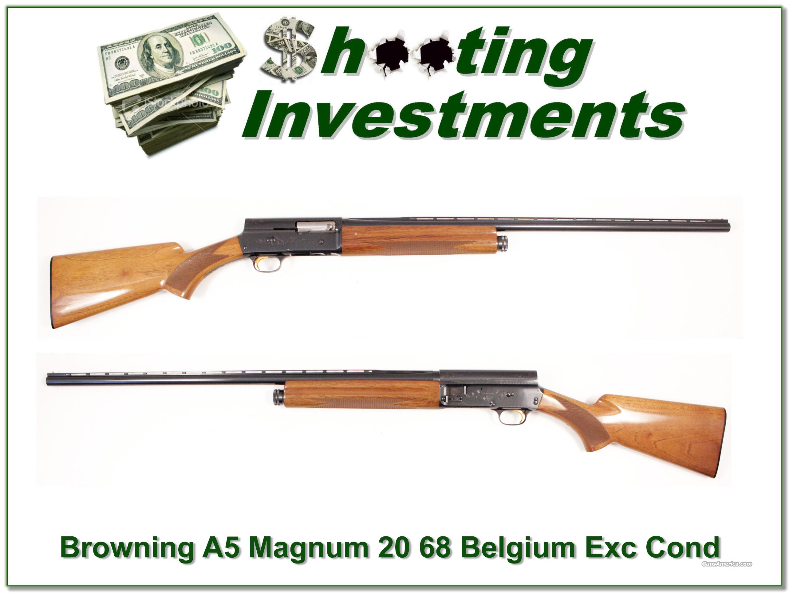Browning A5 Magnum 20 68 Belgium 28in Mod  Guns > Shotguns > Browning Shotguns > Autoloaders > Hunting
