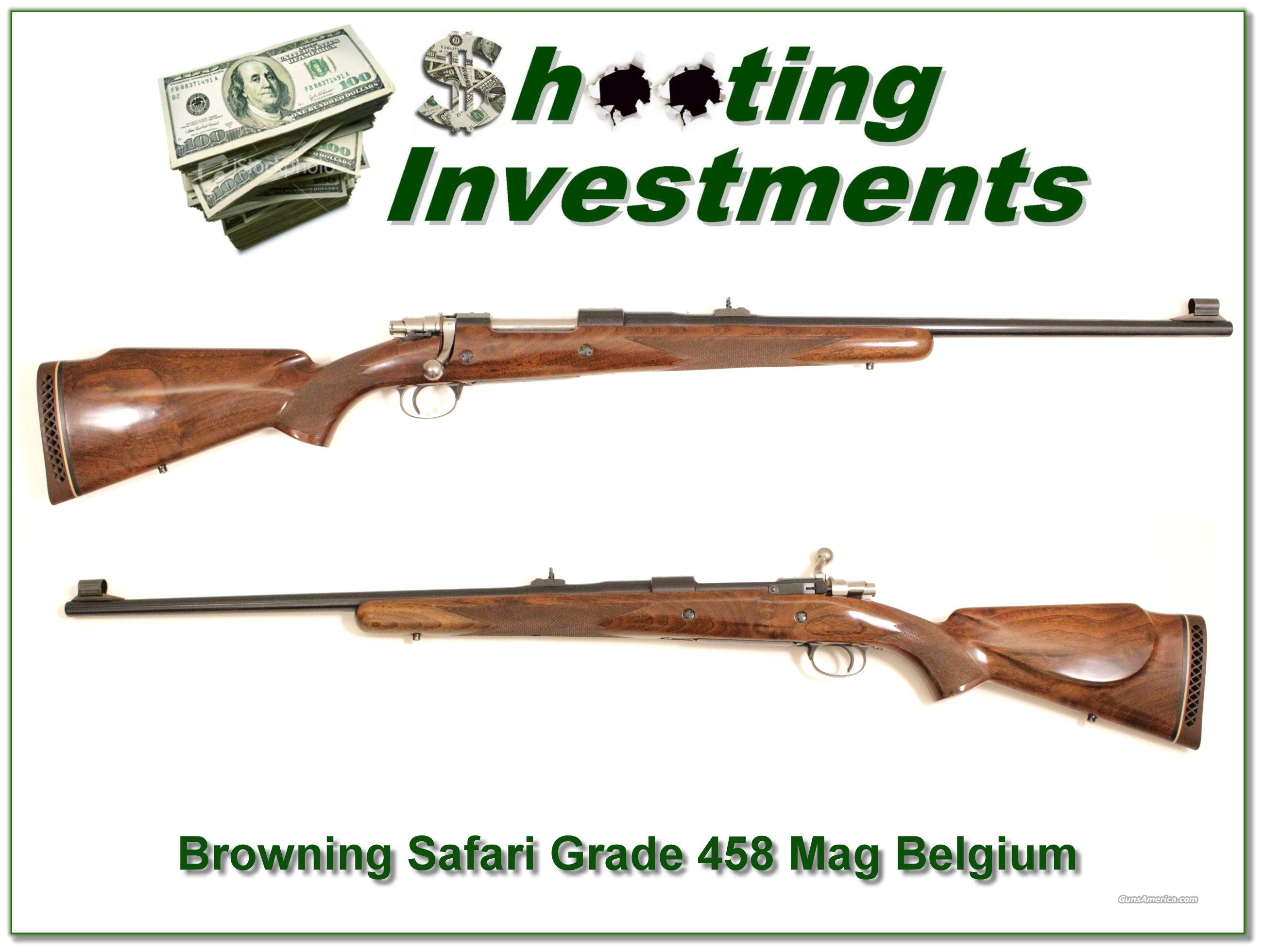 Browning Safari Grade '72 Belgium 458 Win Mag Exc Cond!  Guns > Rifles > Browning Rifles > Bolt Action > Hunting > Blue