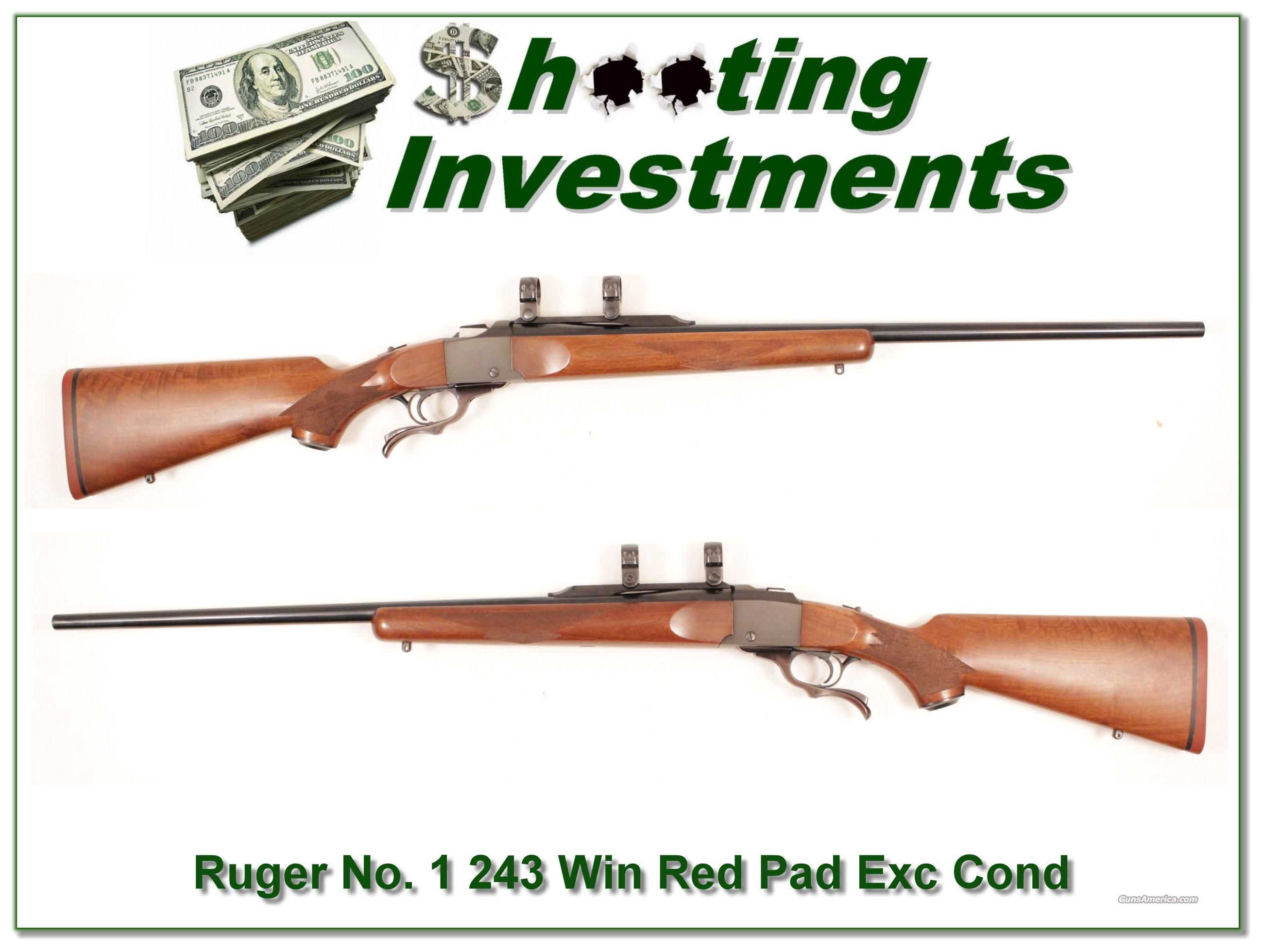 Ruger No.1 #1 243 Winchester Exc Cond Red Pad!  Guns > Rifles > Ruger Rifles > #1 Type