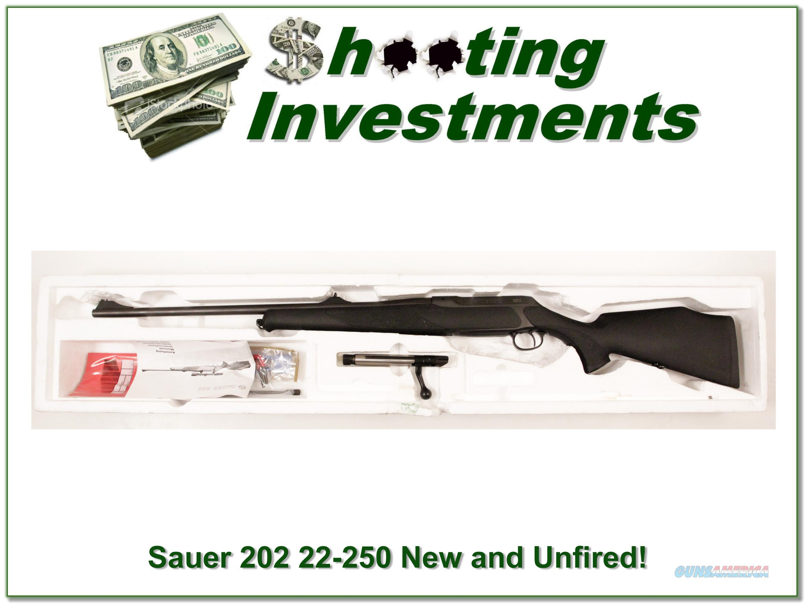 Sauer 202 in 22-250 as new unfired!  Guns > Rifles > Sig - Sauer/Sigarms Rifles