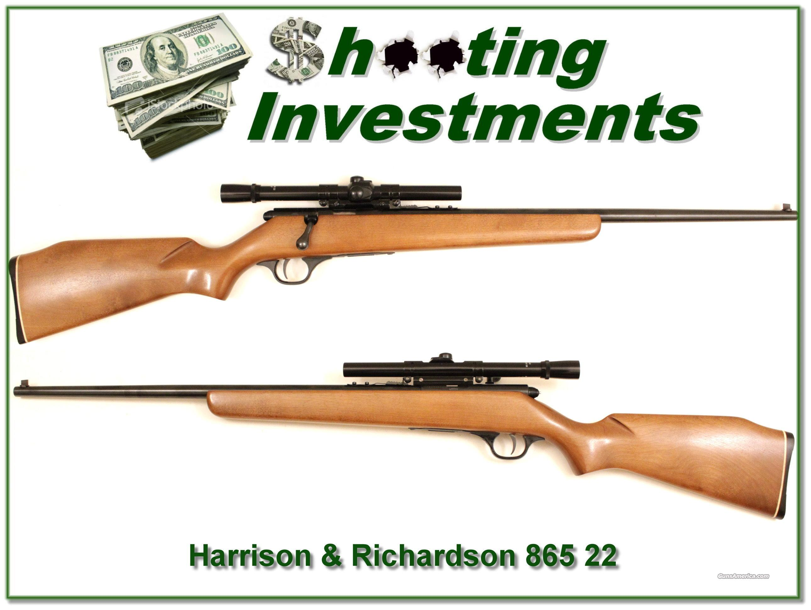 Harrington & Richardson H&R Model 865 Plainsman 22 near new  Guns > Rifles > Harrington & Richardson Rifles