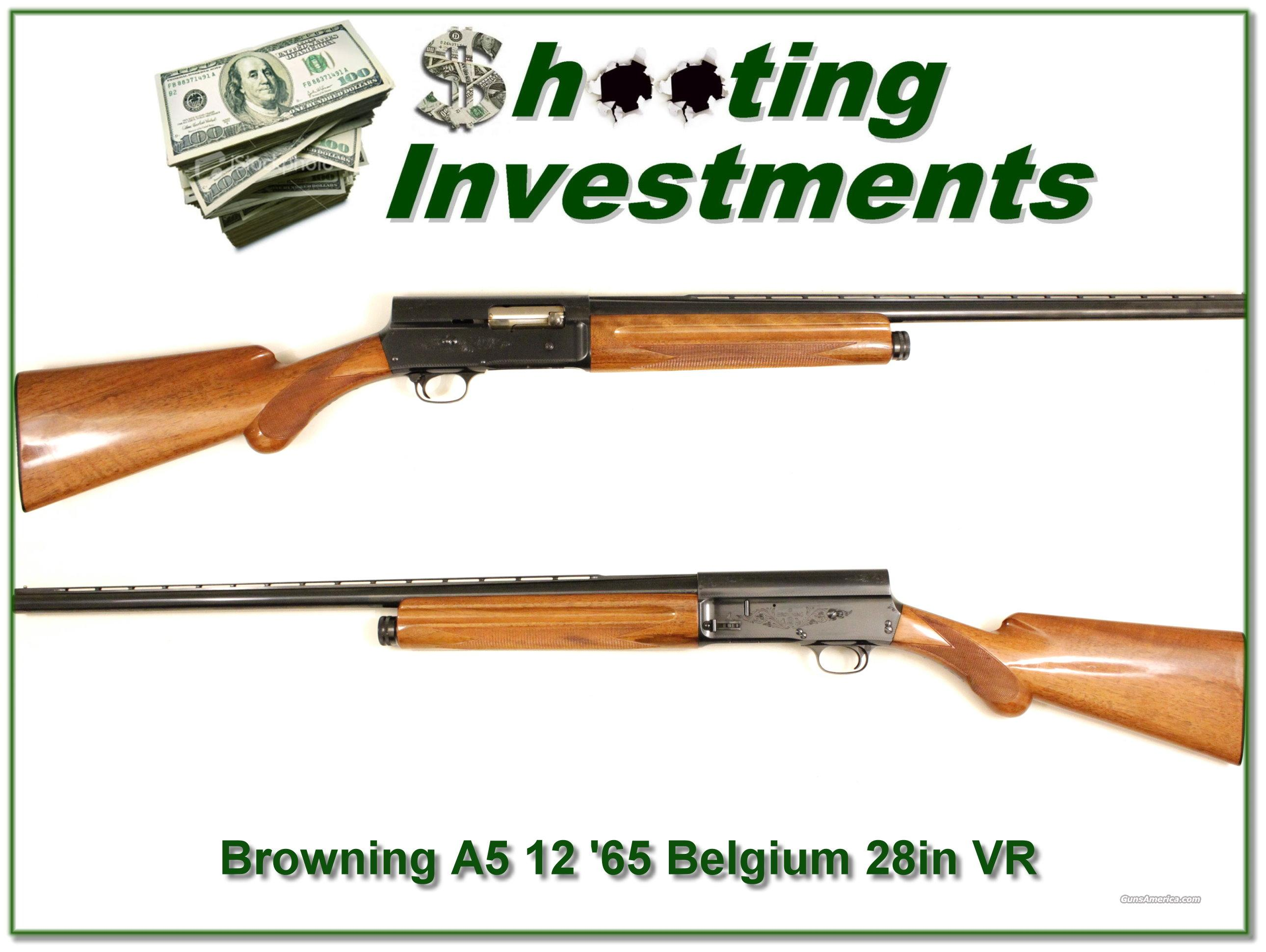 Browning A5 12 65 Belgium Like New!  Guns > Shotguns > Browning Shotguns > Autoloaders > Hunting