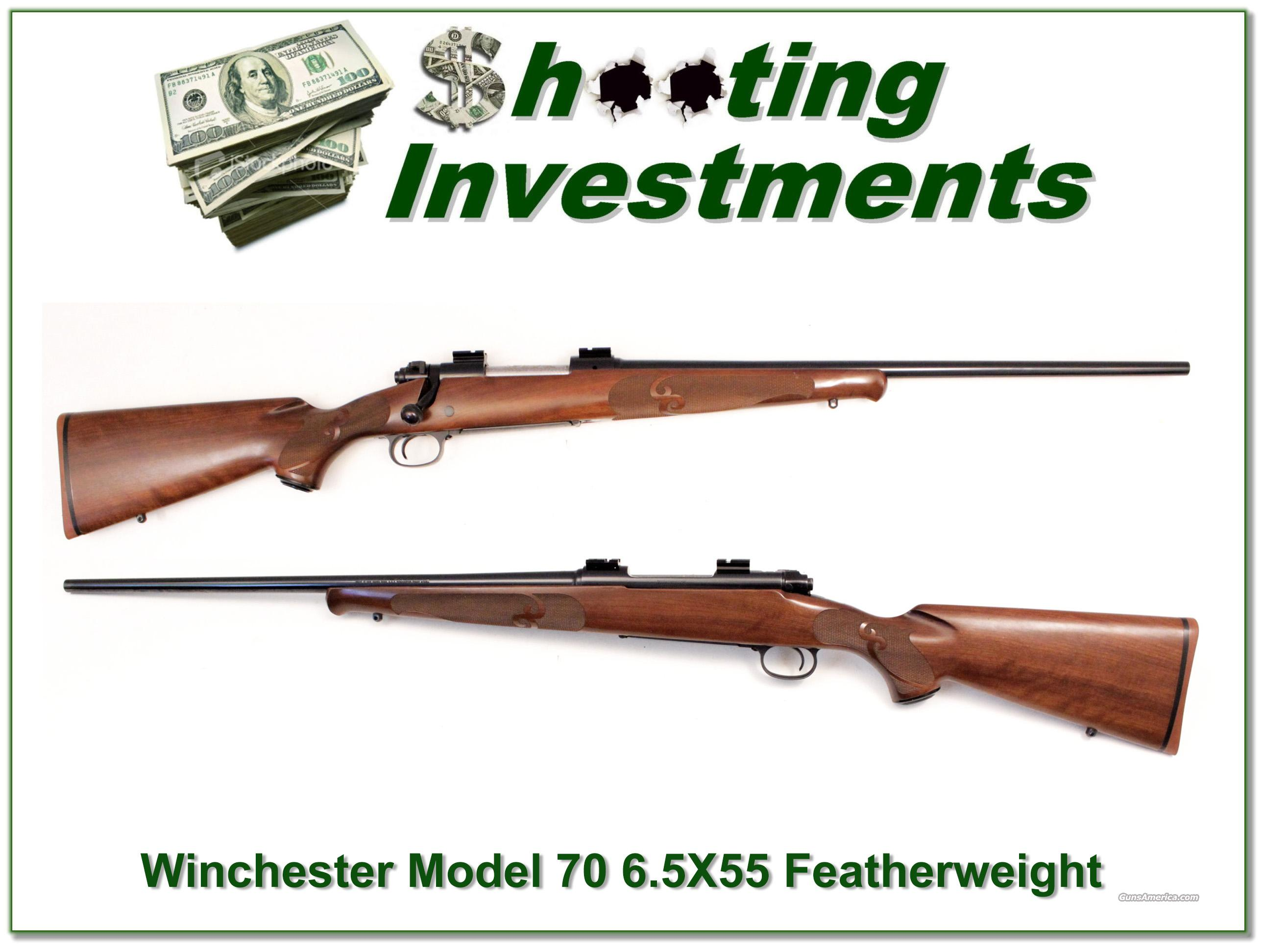 Winchester Model 70 Featherweight in 6.5 X 55 Exc Cond  Guns > Rifles > Winchester Rifles - Modern Bolt/Auto/Single > Model 70 > Post-64