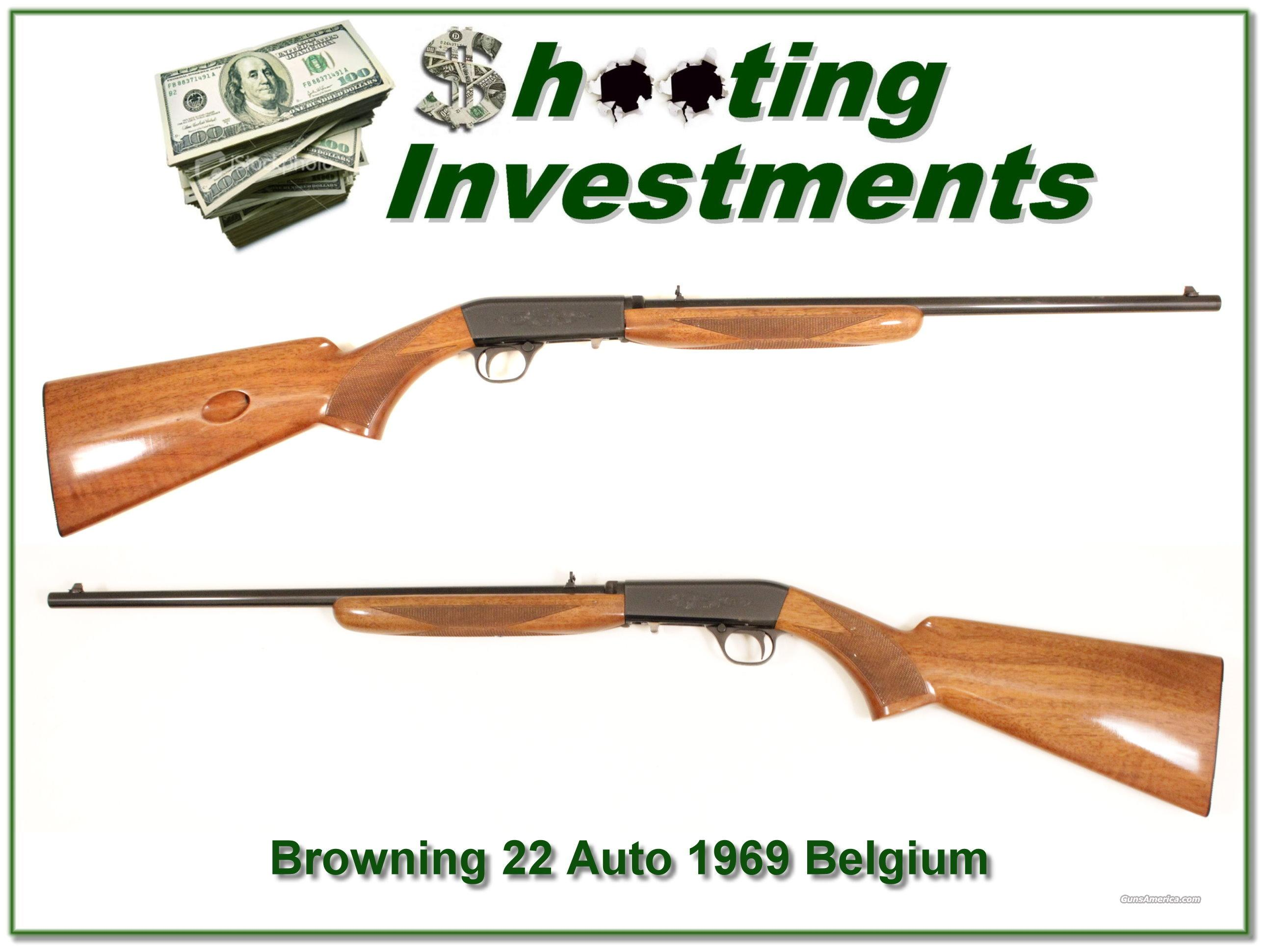 Browning ATD 22 auto '69 Belgium  Guns > Rifles > Browning Rifles > Semi Auto > Hunting