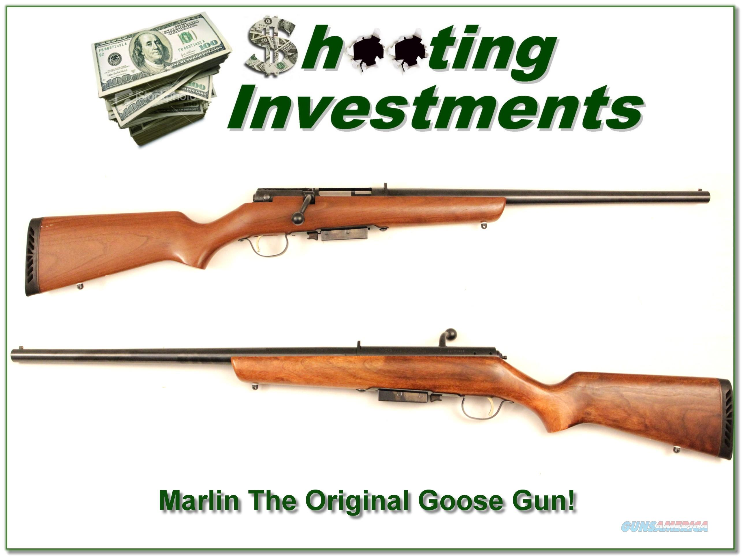 Marlin The Original Goose Gun 12 Gauge 3in Mag  Guns > Shotguns > Marlin Shotguns