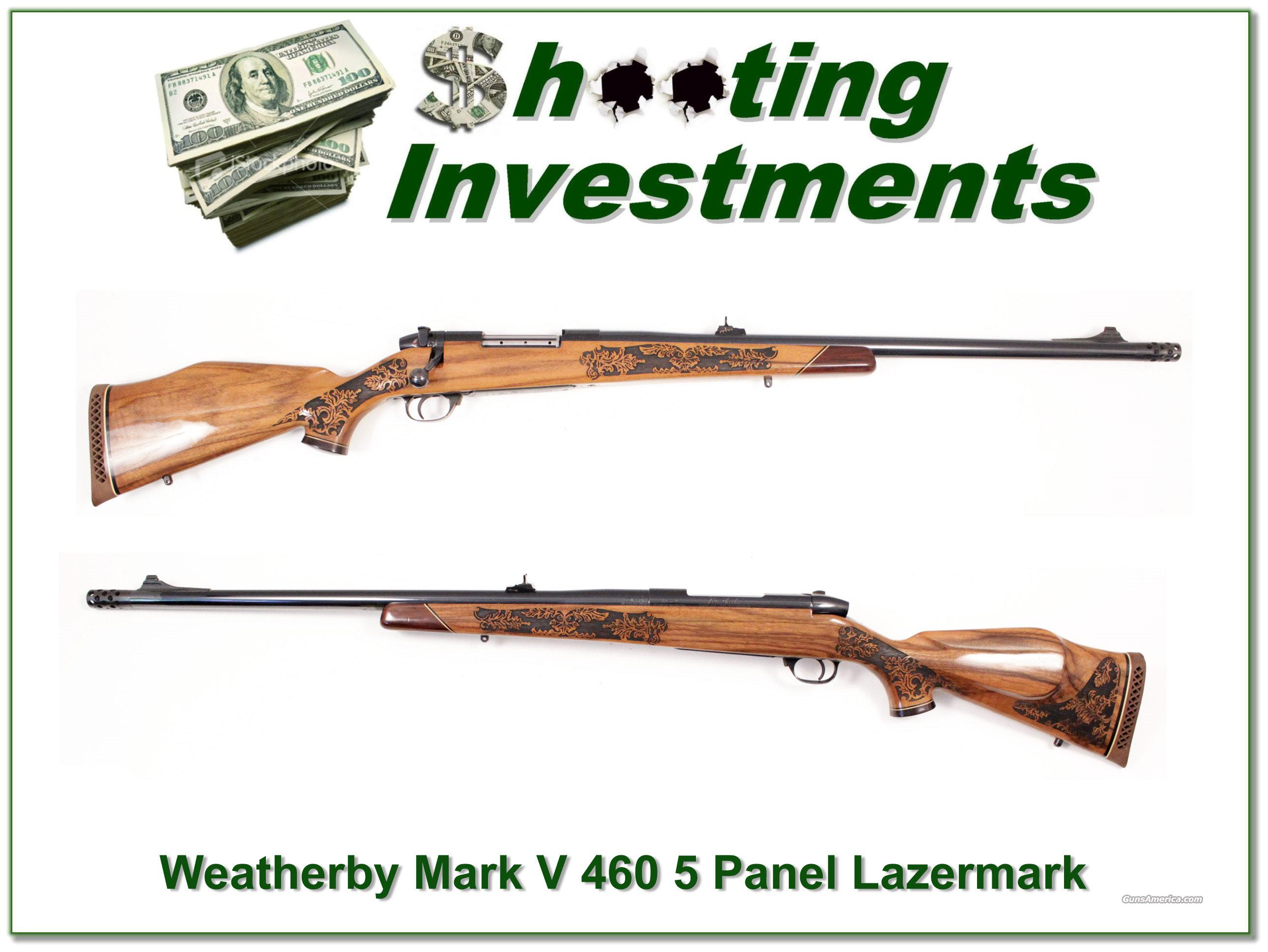 Weatherby Mark V 460 5 Panel Lazermark  Guns > Rifles > Weatherby Rifles > Sporting