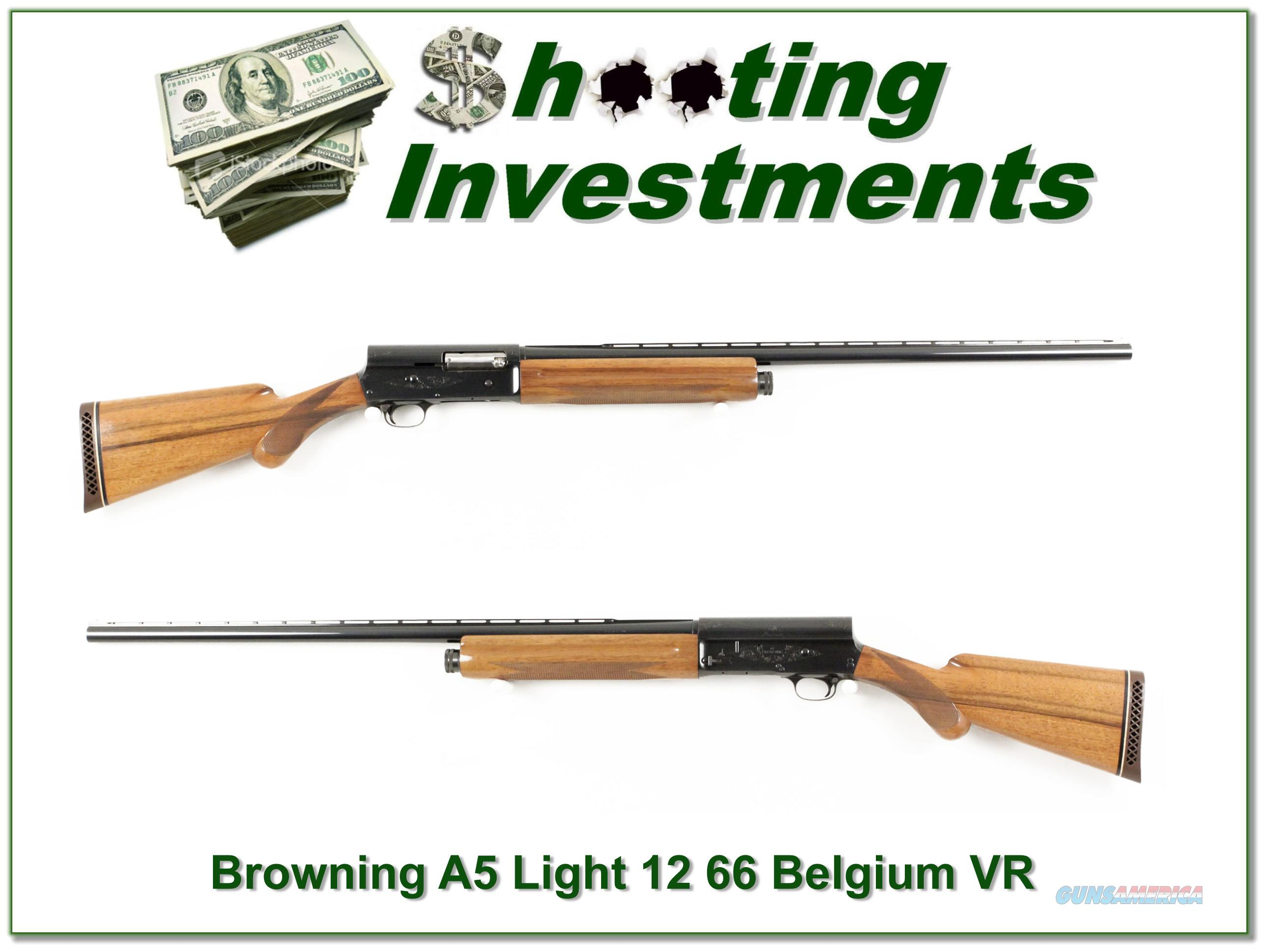 Browning A5 12 Magnum 66 Belgium VR Blond!  Guns > Shotguns > Browning Shotguns > Autoloaders > Hunting