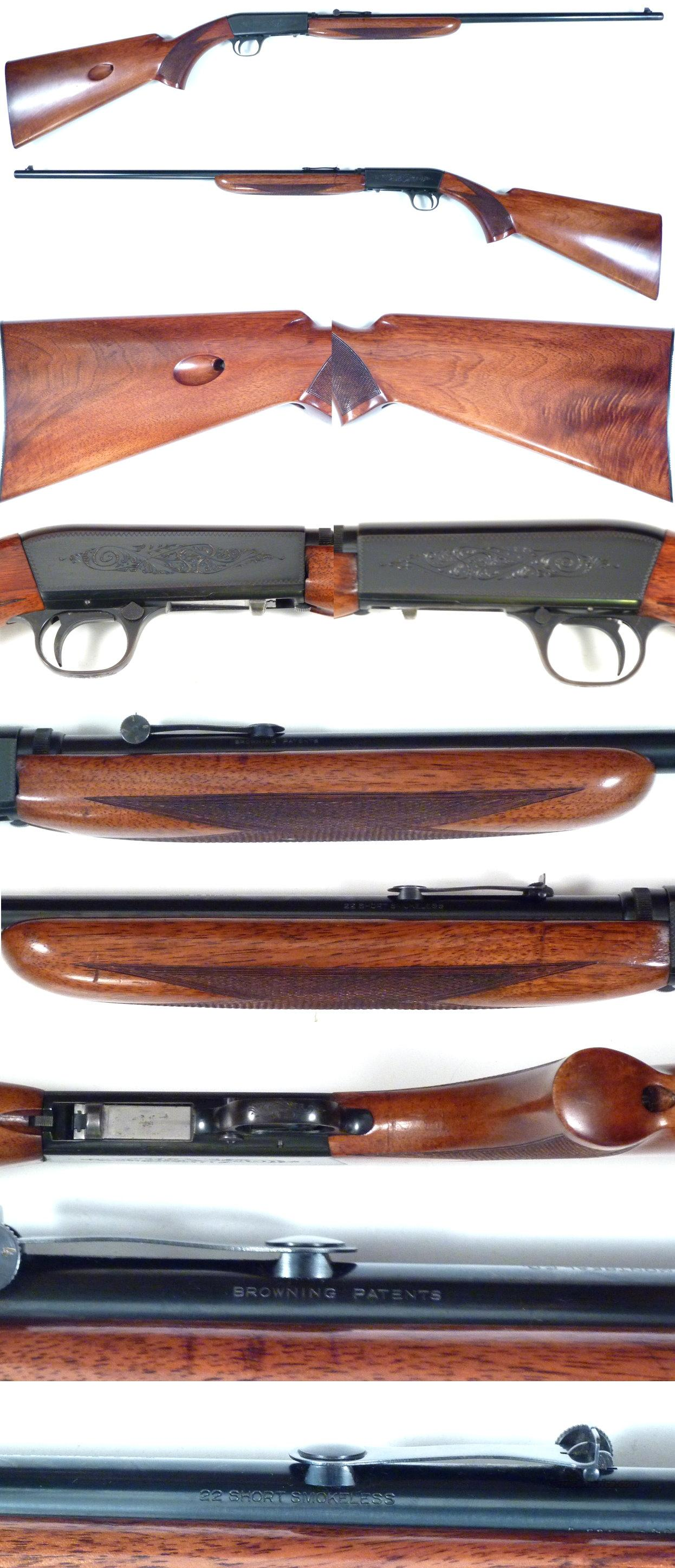 50's Belgium Browning 22 auto thumbwheel SHORT  Guns > Rifles > Browning Rifles > Semi Auto > Hunting