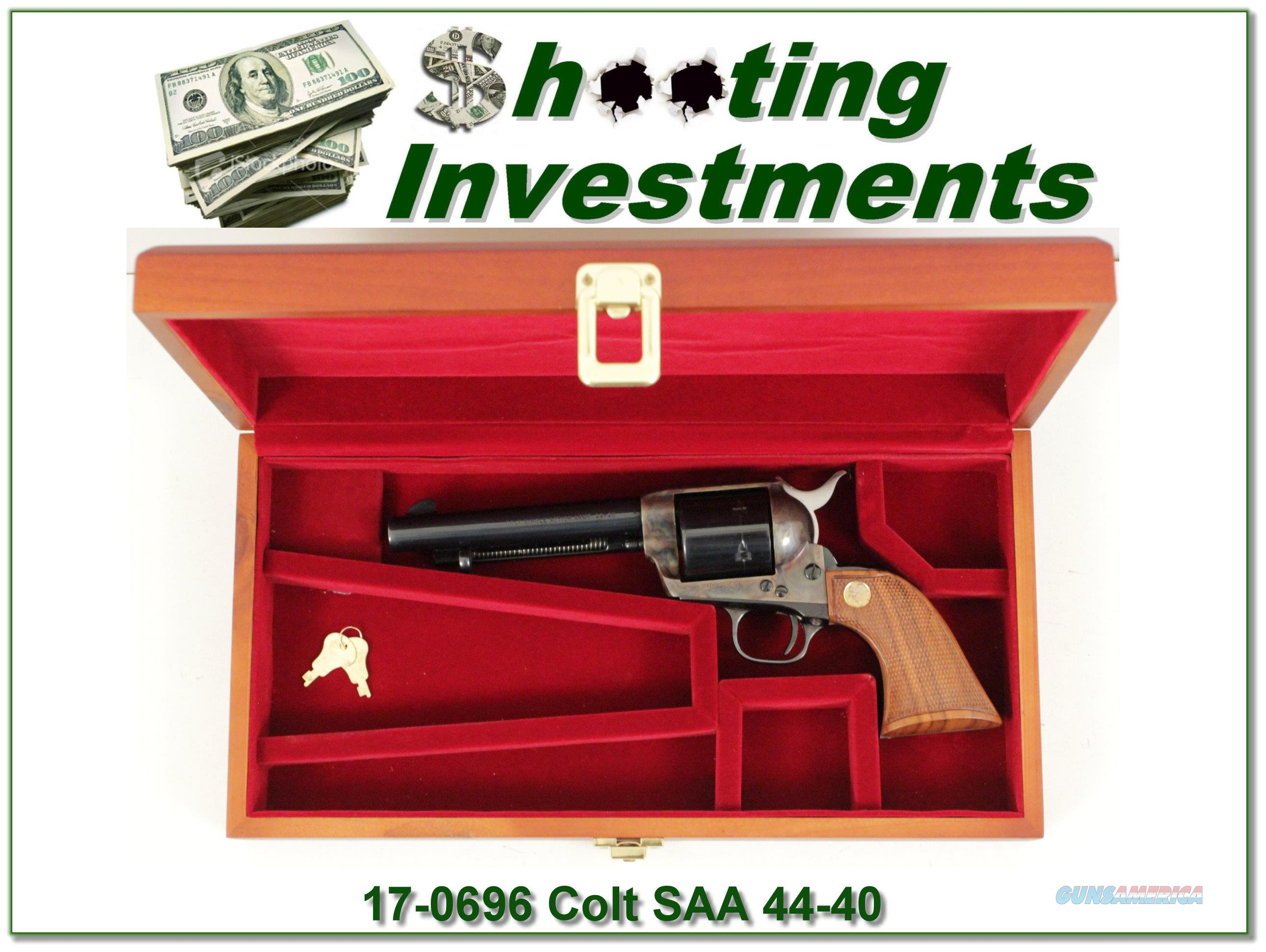 Colt SAA 5.5 in 1976 made 44-40 in case!  Guns > Pistols > Colt Single Action Revolvers - 1st Gen.
