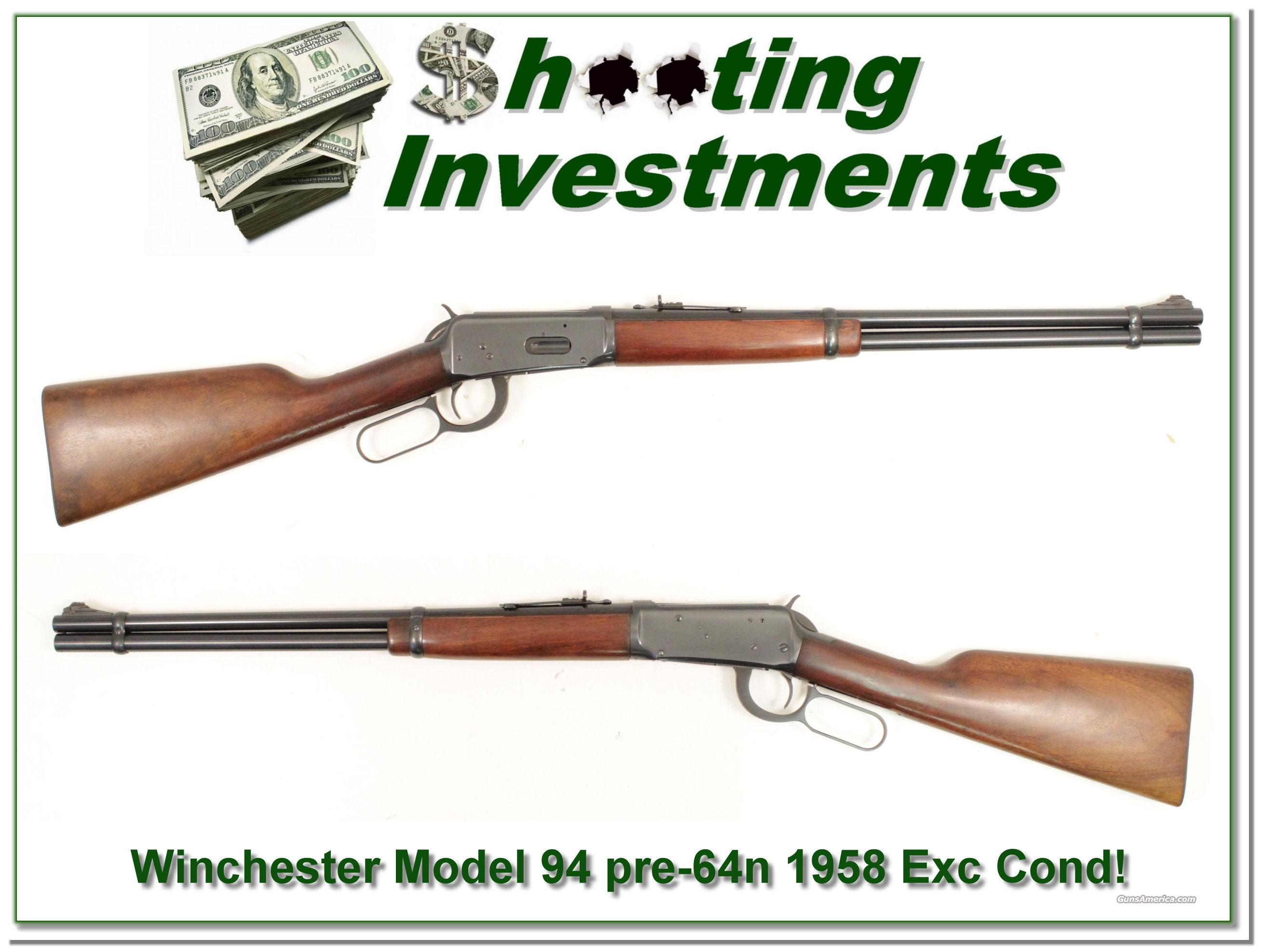 Winchester Model 94 32 Special 1958 as new!  Guns > Rifles > Winchester Rifles - Modern Lever > Model 94 > Post-64