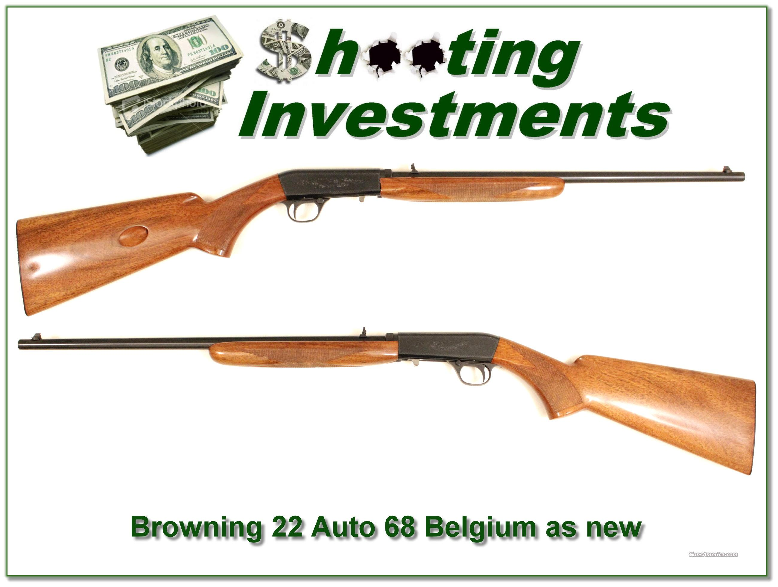 Browning 22 auto 1968 Belgium near new  Guns > Rifles > Browning Rifles > Semi Auto > Hunting