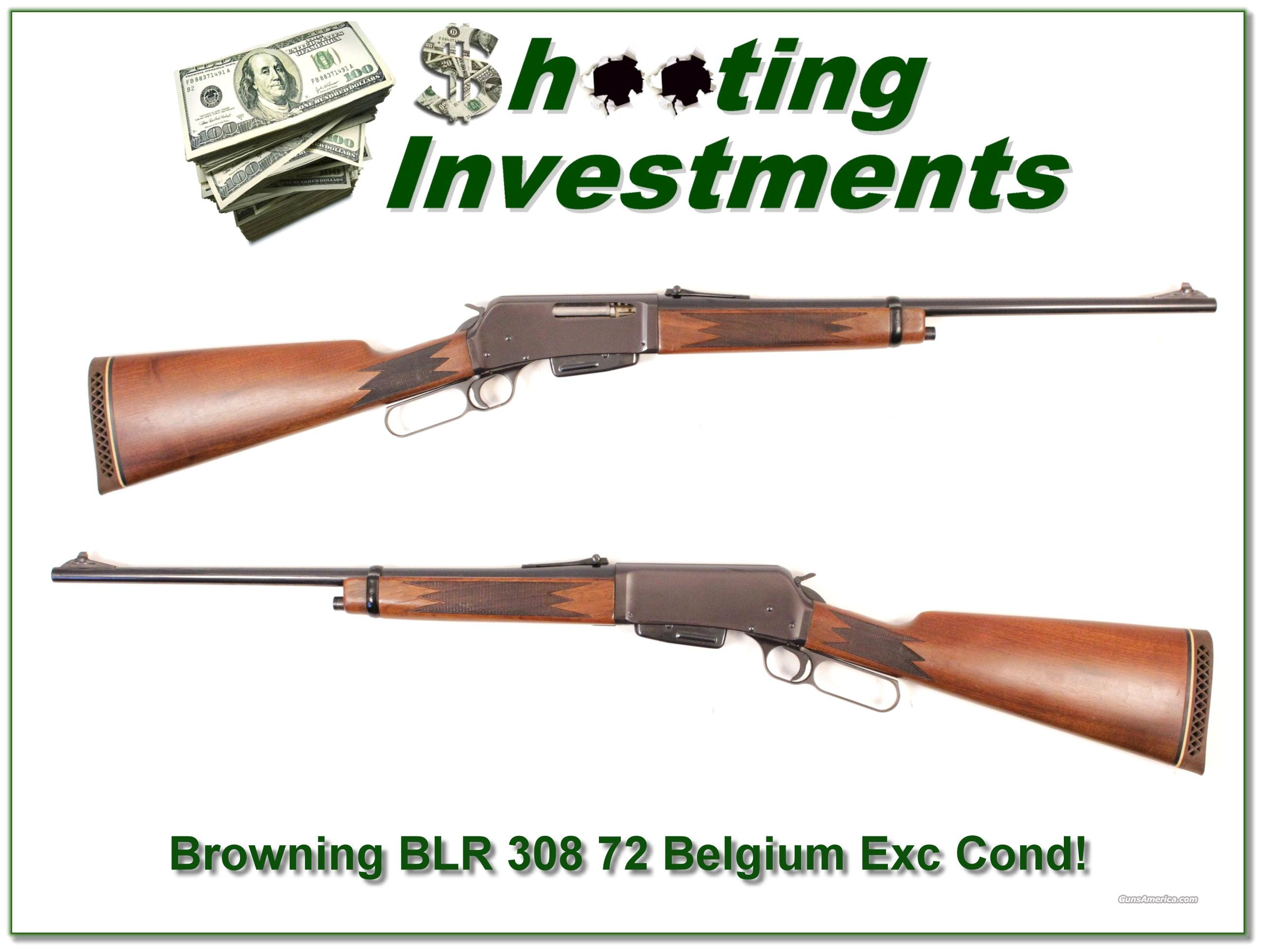 Browning BLR '72 Belgium made 308 Exc Cond!  Guns > Rifles > Browning Rifles > Lever Action