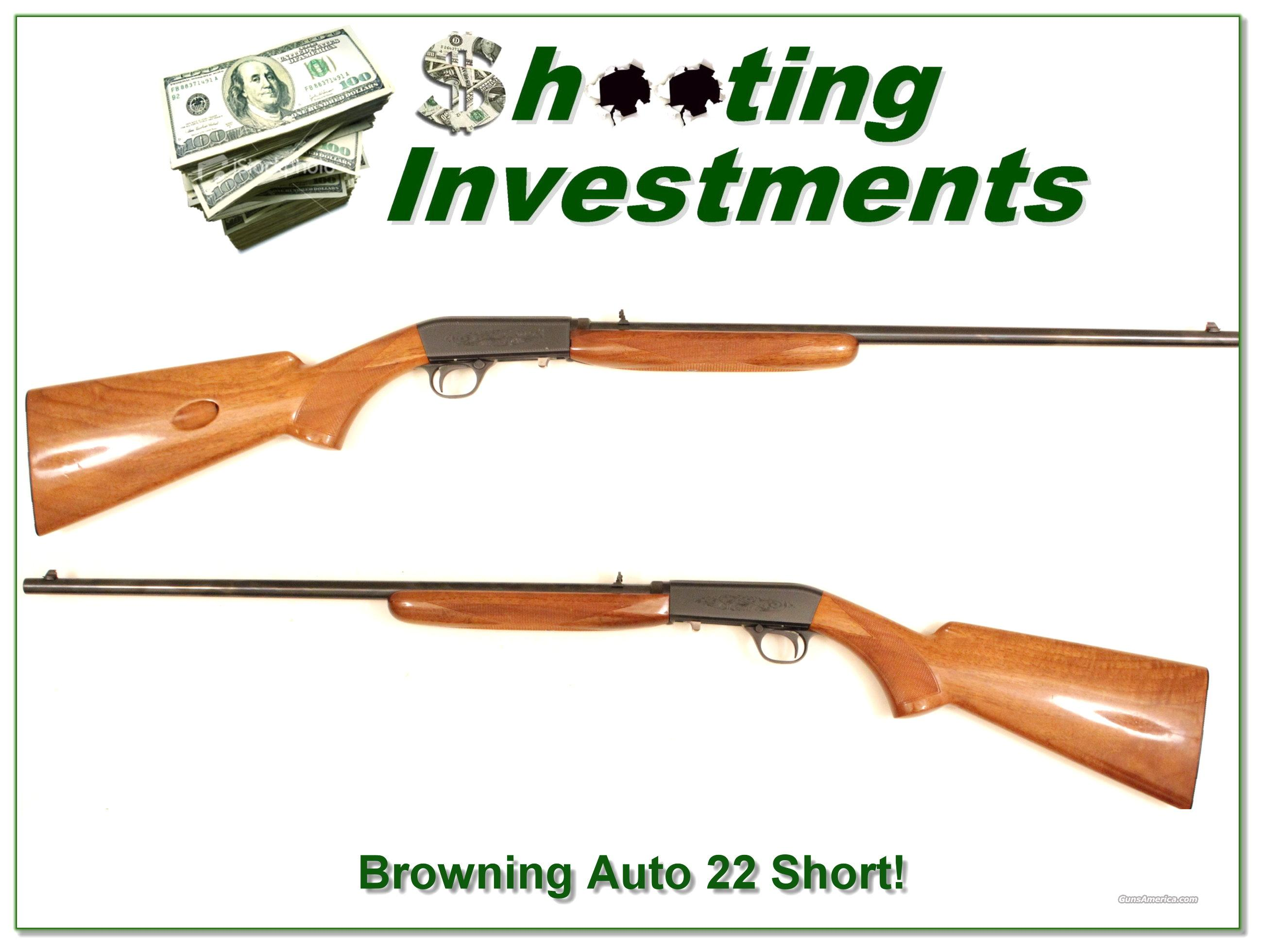 Browning 22 auto Belgium rare Short!  Guns > Rifles > Browning Rifles > Semi Auto > Hunting
