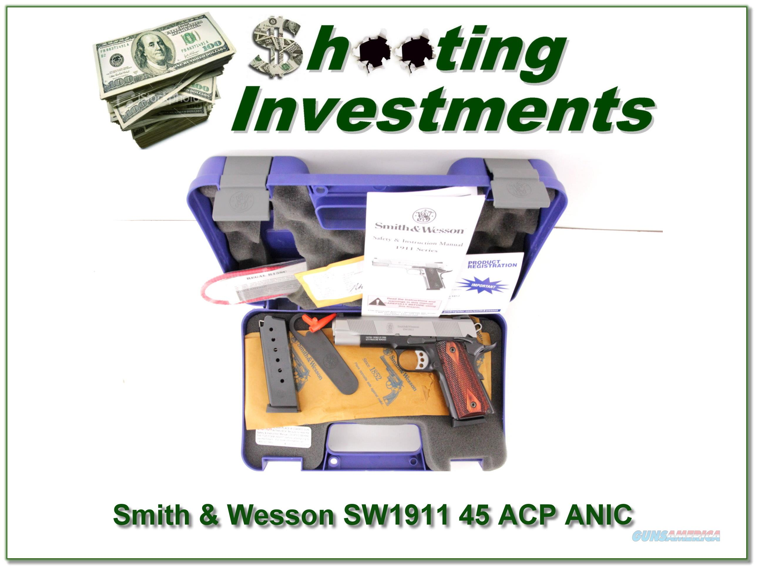 Smith & Wesson SW1911 1911 45 ACP ANIC  Guns > Pistols > Smith & Wesson Pistols - Autos > Steel Frame