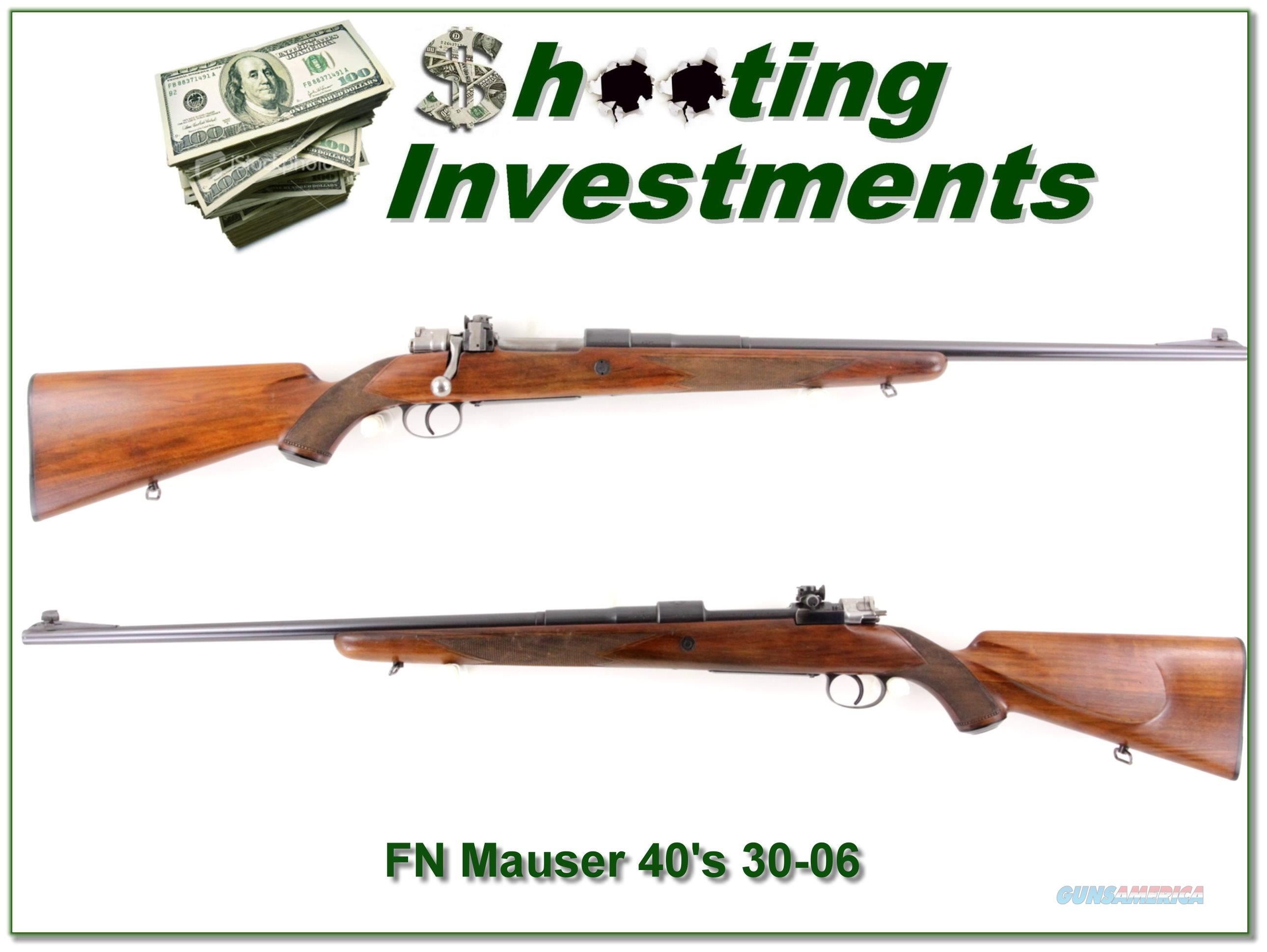 FN Mauser Supreme late 40's 30-06  Guns > Rifles > FNH - Fabrique Nationale (FN) Rifles > Bolt action > Hunting