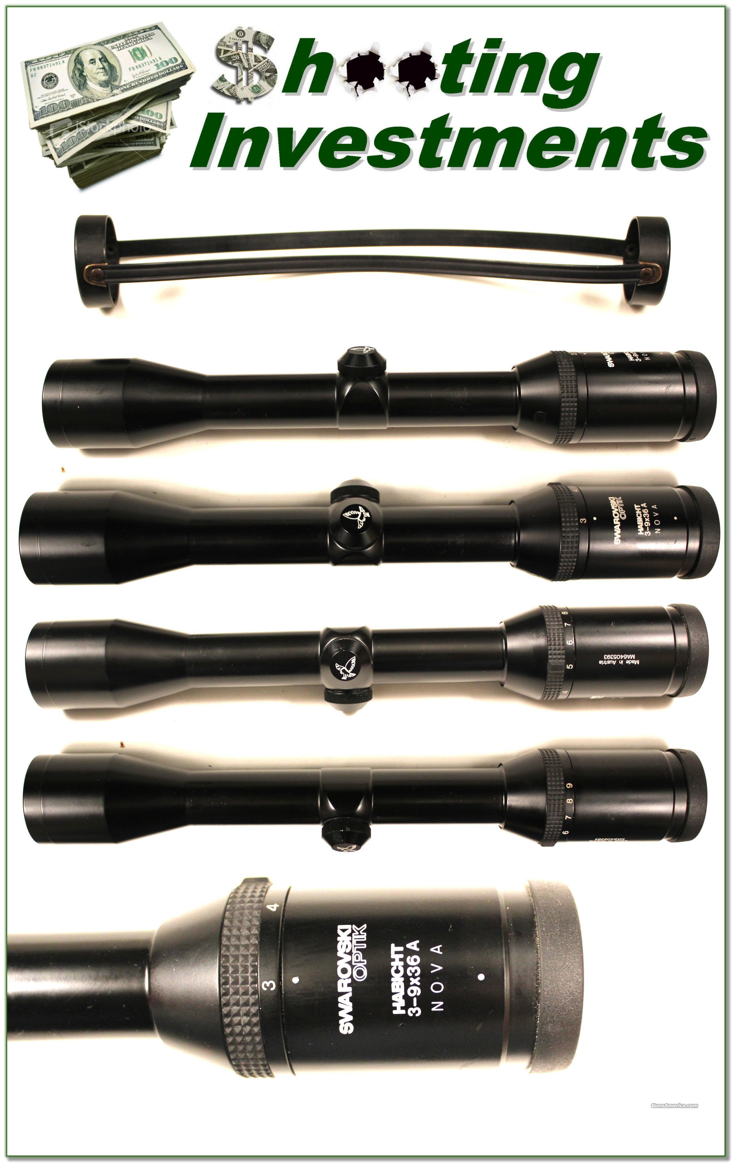 Swarovski Habicht Nova Rifle Scope 3-9 X 36  Non-Guns > Scopes/Mounts/Rings & Optics > Rifle Scopes > Variable Focal Length