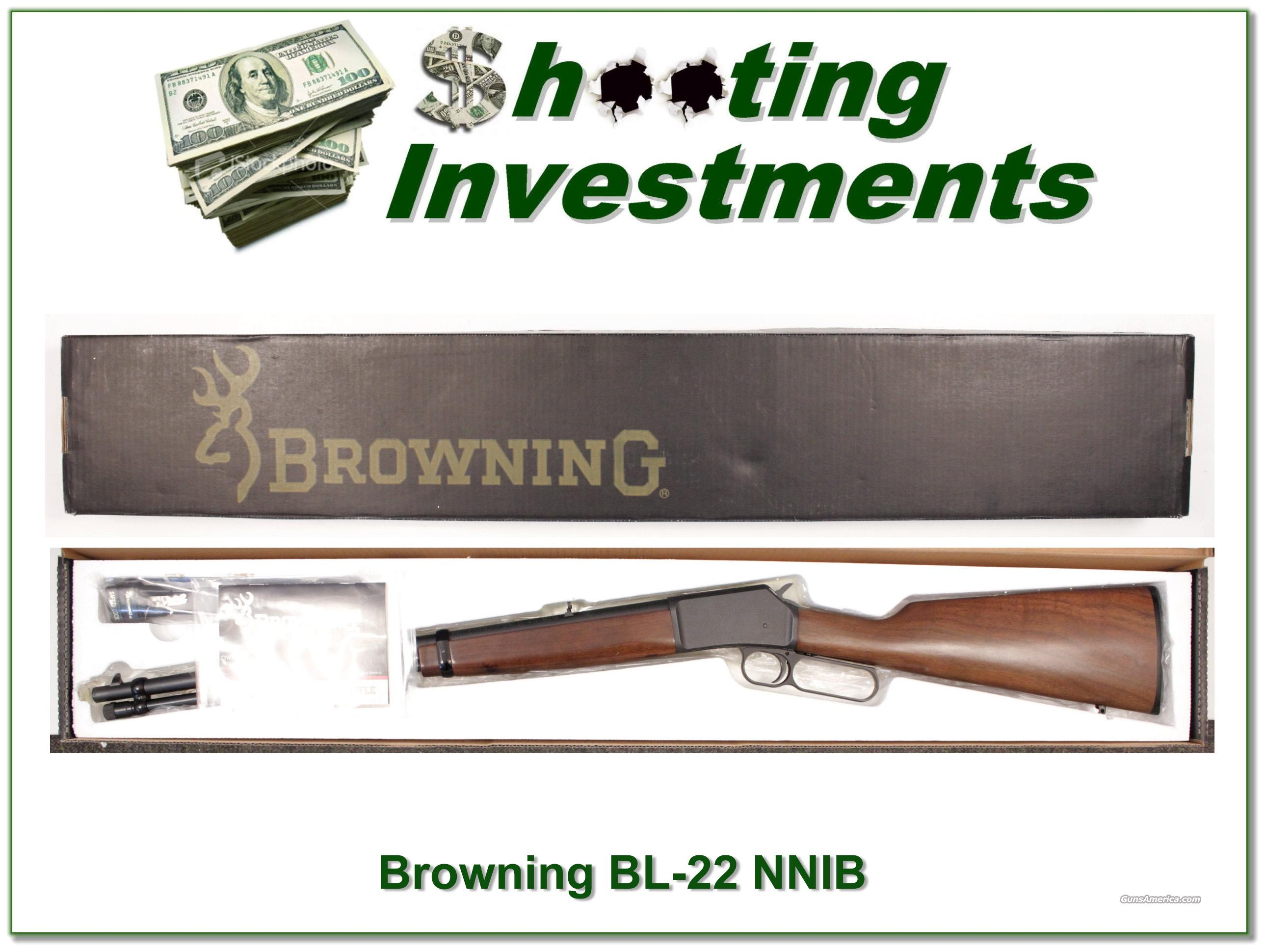 Browning BL-22 22 Lever Rimfire NNIB  Guns > Rifles > Browning Rifles > Lever Action