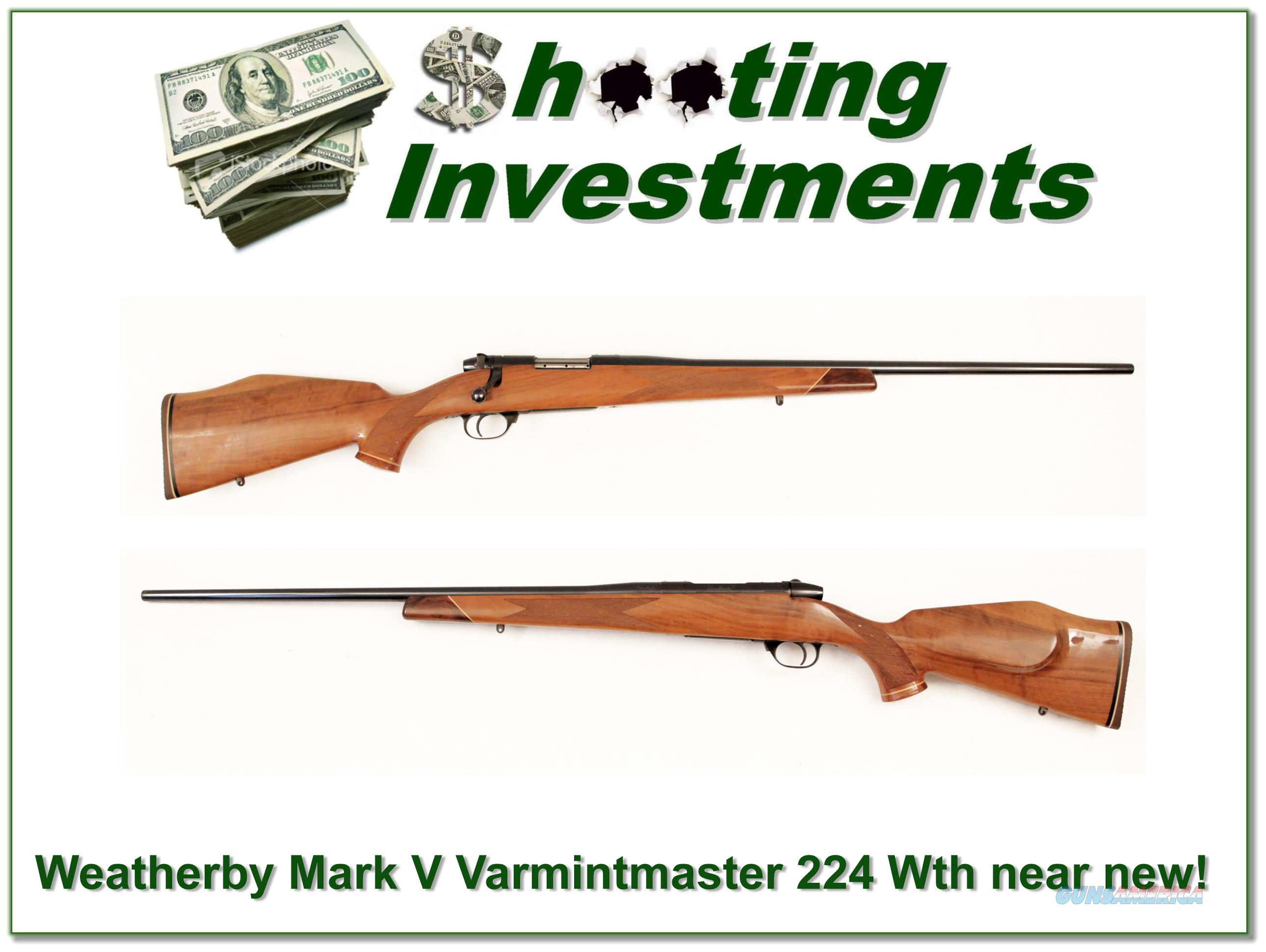 Weatherby Mark V Deluxe Varmintmaster 224 Wthy  Guns > Rifles > Weatherby Rifles > Sporting