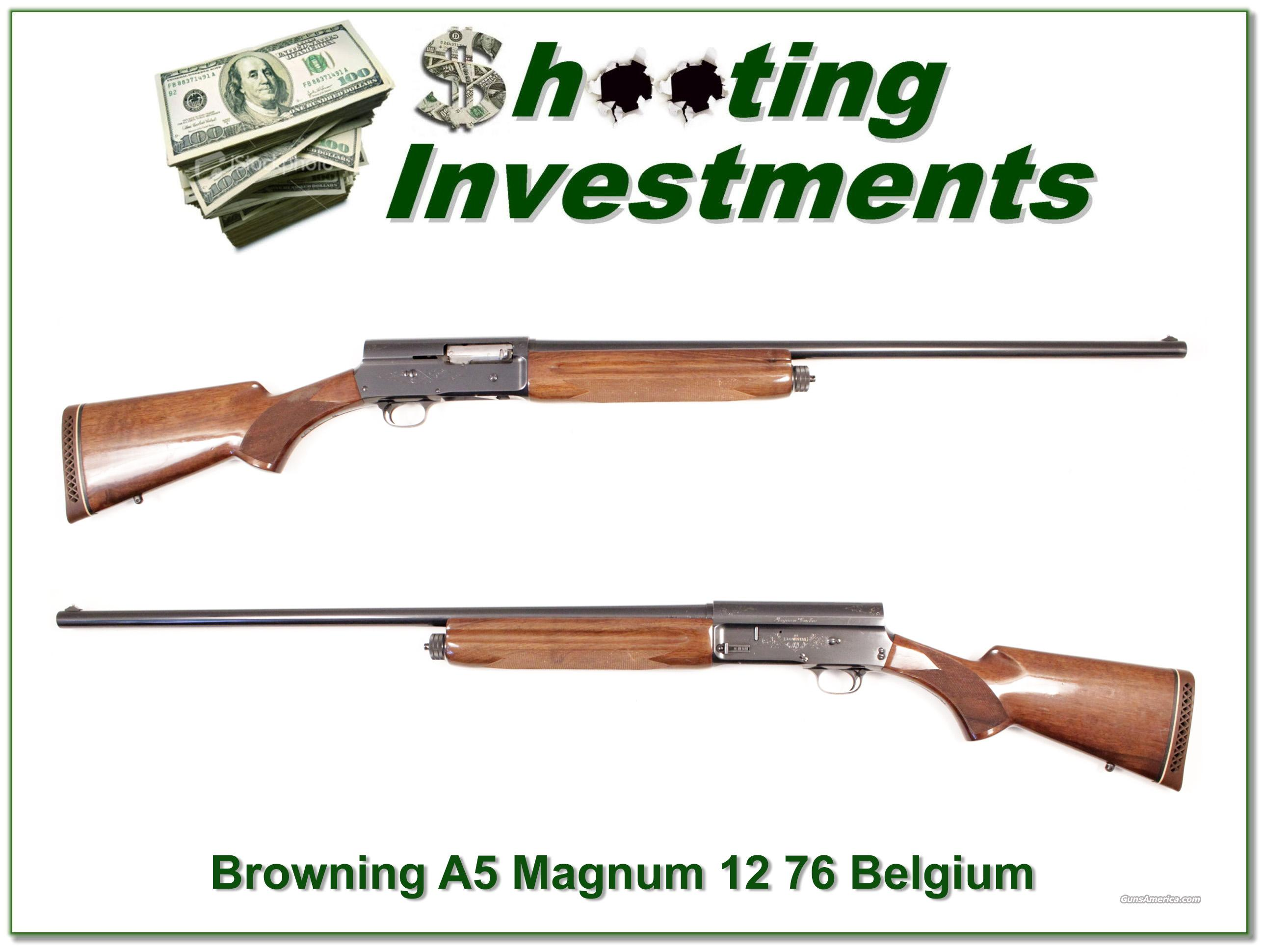 Browning A5 1961 Belgium 12 Magnum 32in Full  Guns > Shotguns > Browning Shotguns > Autoloaders > Hunting