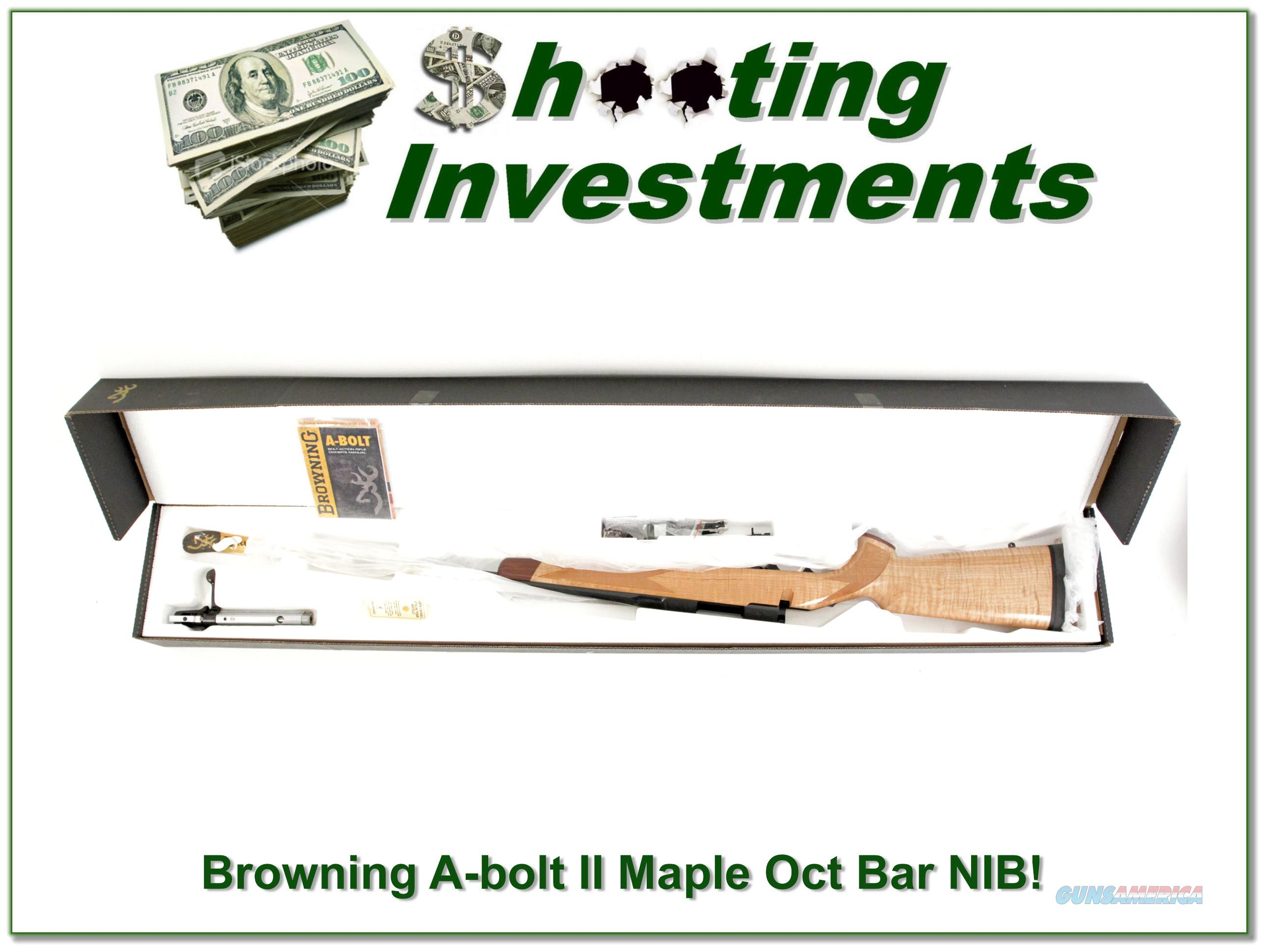 Browning A-bolt II Maple Octagonal 243 NIB!  Guns > Rifles > Browning Rifles > Bolt Action > Hunting > Blue