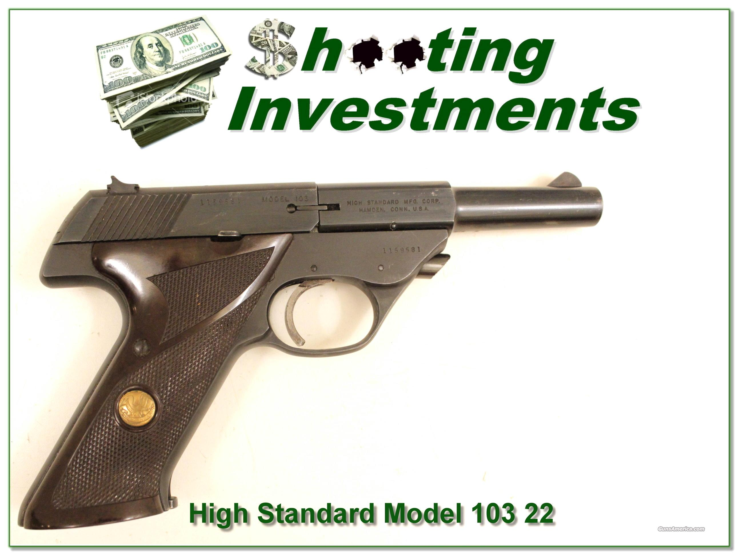 High Standard Sport King Model 103 22 LR  Guns > Pistols > High Standard Pistols