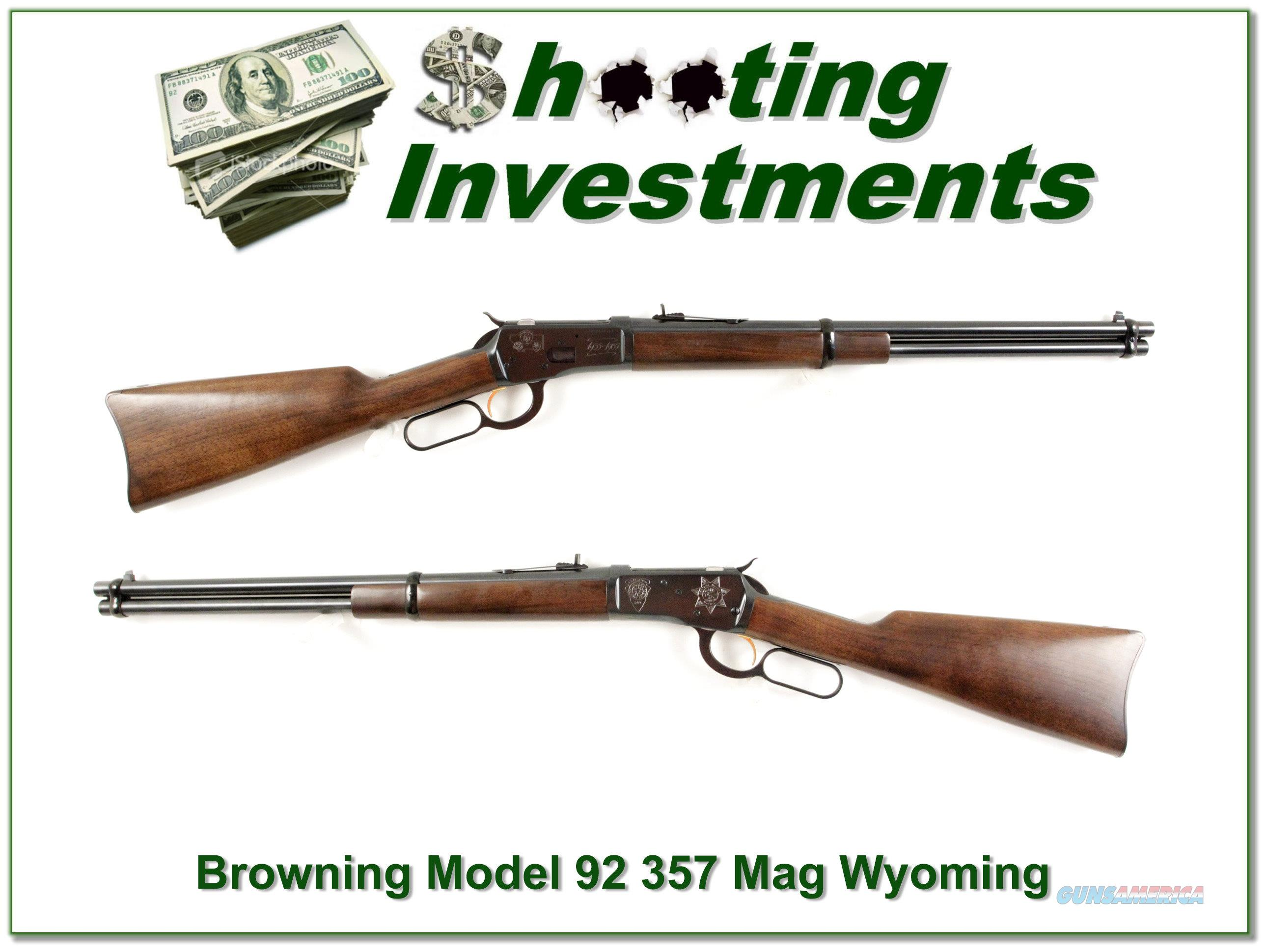 Browning Model 92 357 Magnum Montana Centennial unfired!  Guns > Rifles > Browning Rifles > Lever Action
