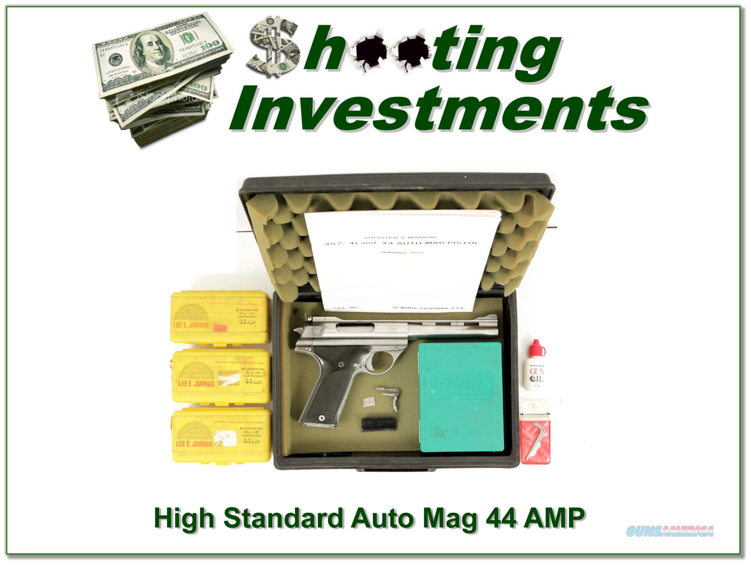 High Standard Model 180 .44 AMP in box with ammo  Guns > Pistols > High Standard Pistols