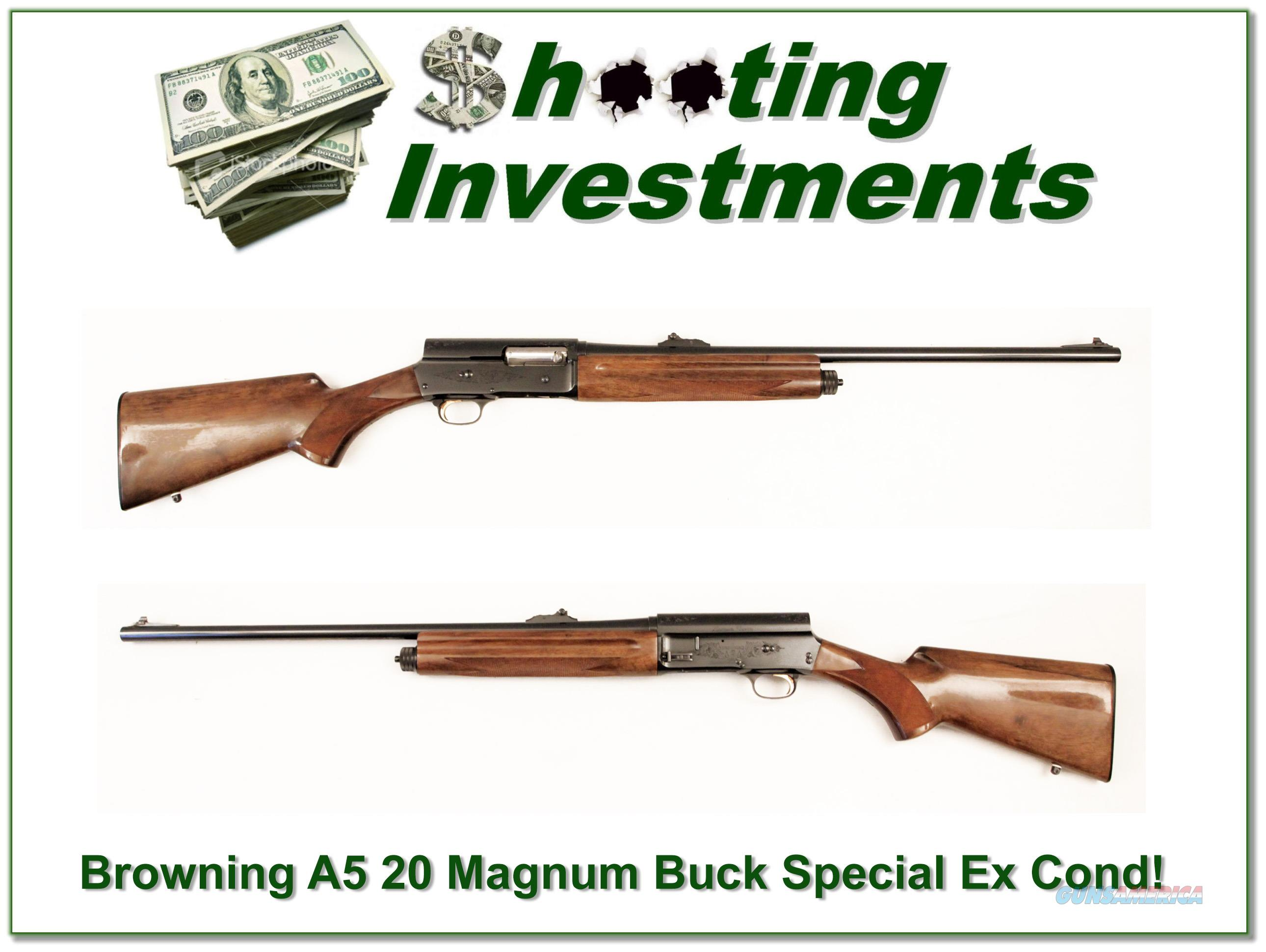 Browning A5 Light 20 Buck Special Exc Cond!  Guns > Shotguns > Browning Shotguns > Autoloaders > Hunting