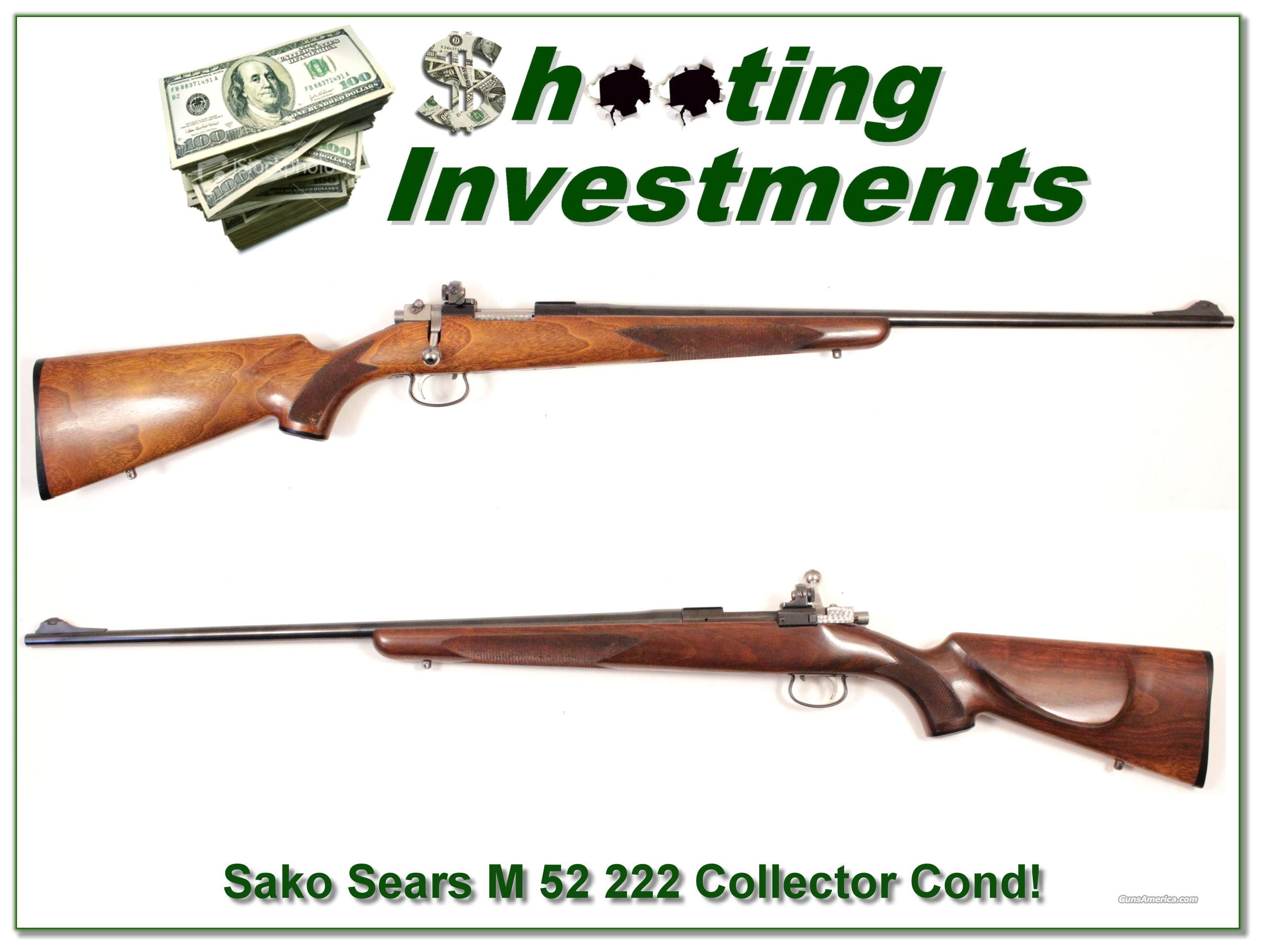Sako Riihimaki Sears JC Higgins Model 52 222 Rem 28in near new!  Guns > Rifles > Sako Rifles > Other Bolt Action