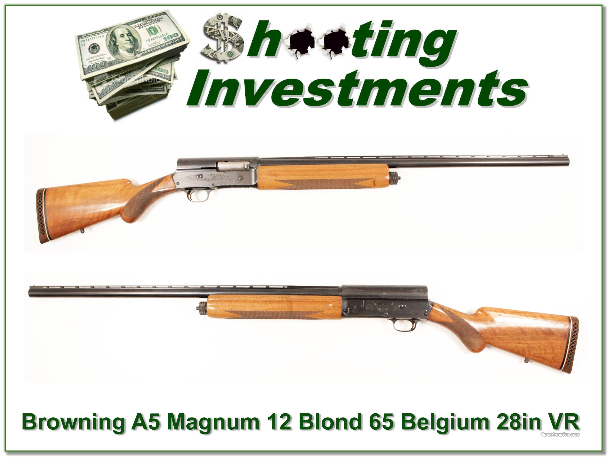 Browning A5 Magnum 12 Belgium Blond 28in VR  Guns > Shotguns > Browning Shotguns > Autoloaders > Hunting