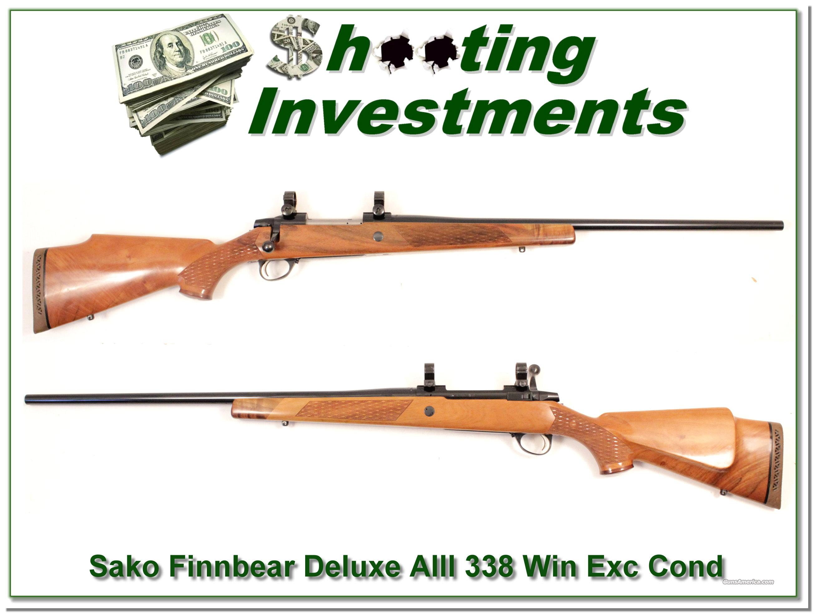 Sako Finnbear AIII Deluxe 338 Win Mag!  Guns > Rifles > Sako Rifles > Other Bolt Action