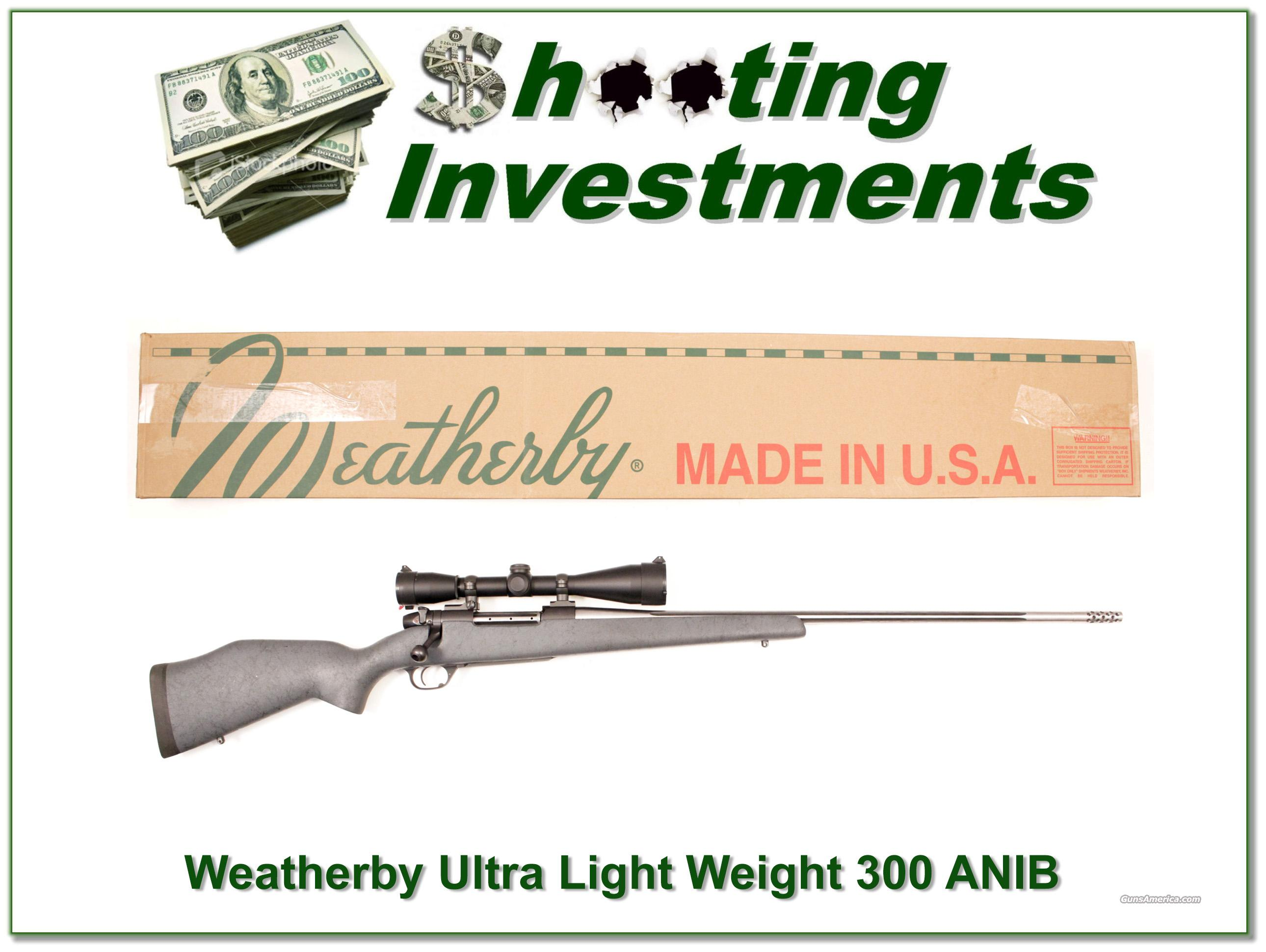 Weatherby Mark V Ultra Light Leupold ANIB  Guns > Rifles > Weatherby Rifles > Sporting
